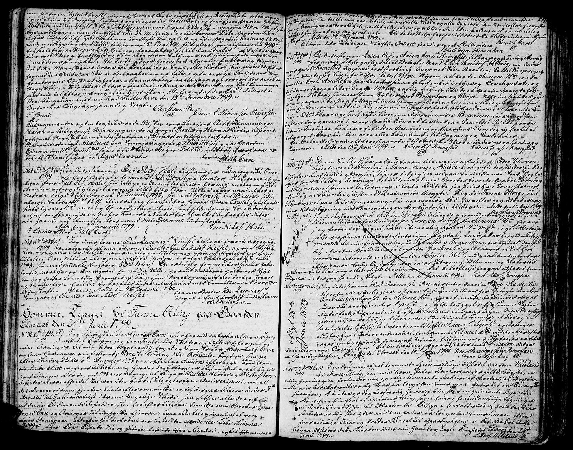 SAT, Romsdal sorenskriveri, 2/2C/L0006: Pantebok nr. 5 I-II, 1791-1806, s. 256