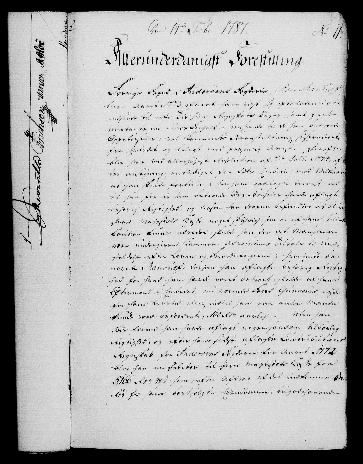 RA, Rentekammeret, Kammerkanselliet, G/Gf/Gfa/L0069: Norsk relasjons- og resolusjonsprotokoll (merket RK 52.69), 1787, s. 84