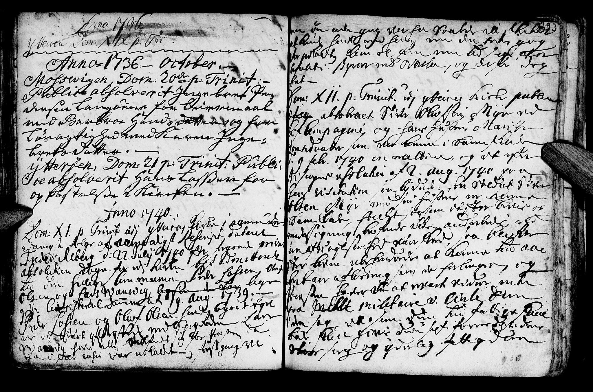 SAT, Ministerialprotokoller, klokkerbøker og fødselsregistre - Nord-Trøndelag, 722/L0215: Ministerialbok nr. 722A02, 1718-1755, s. 293