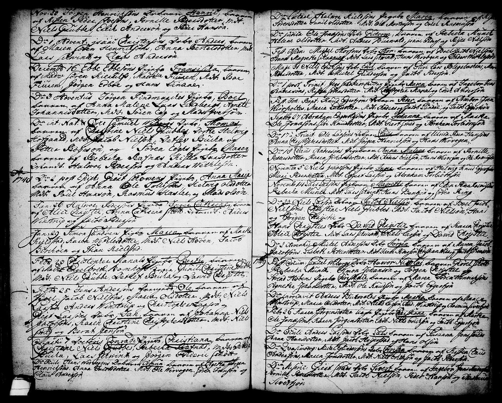 SAKO, Brevik kirkebøker, F/Fa/L0002: Ministerialbok nr. 2, 1720-1764, s. 34r