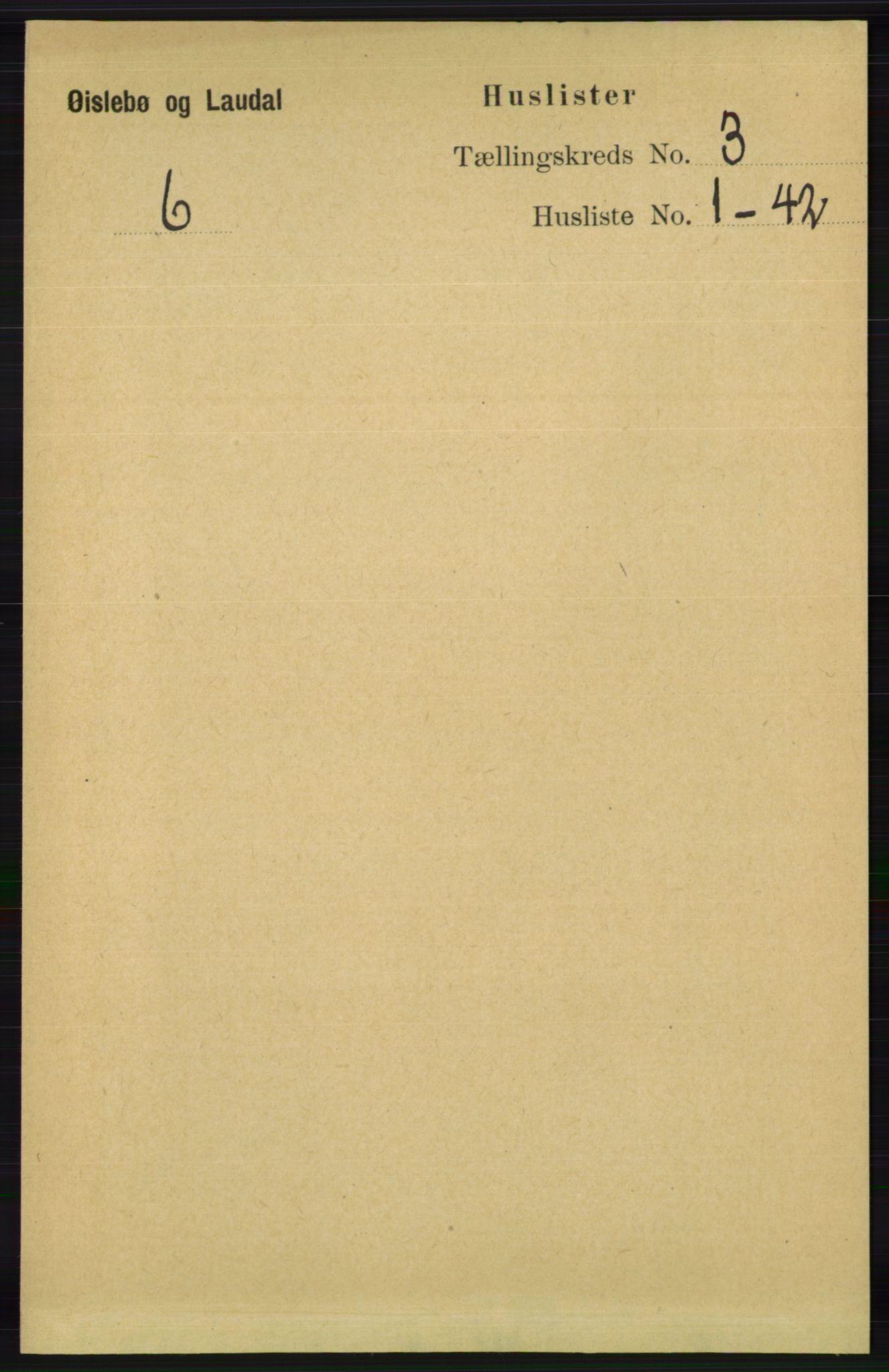 RA, Folketelling 1891 for 1021 Øyslebø og Laudal herred, 1891, s. 697