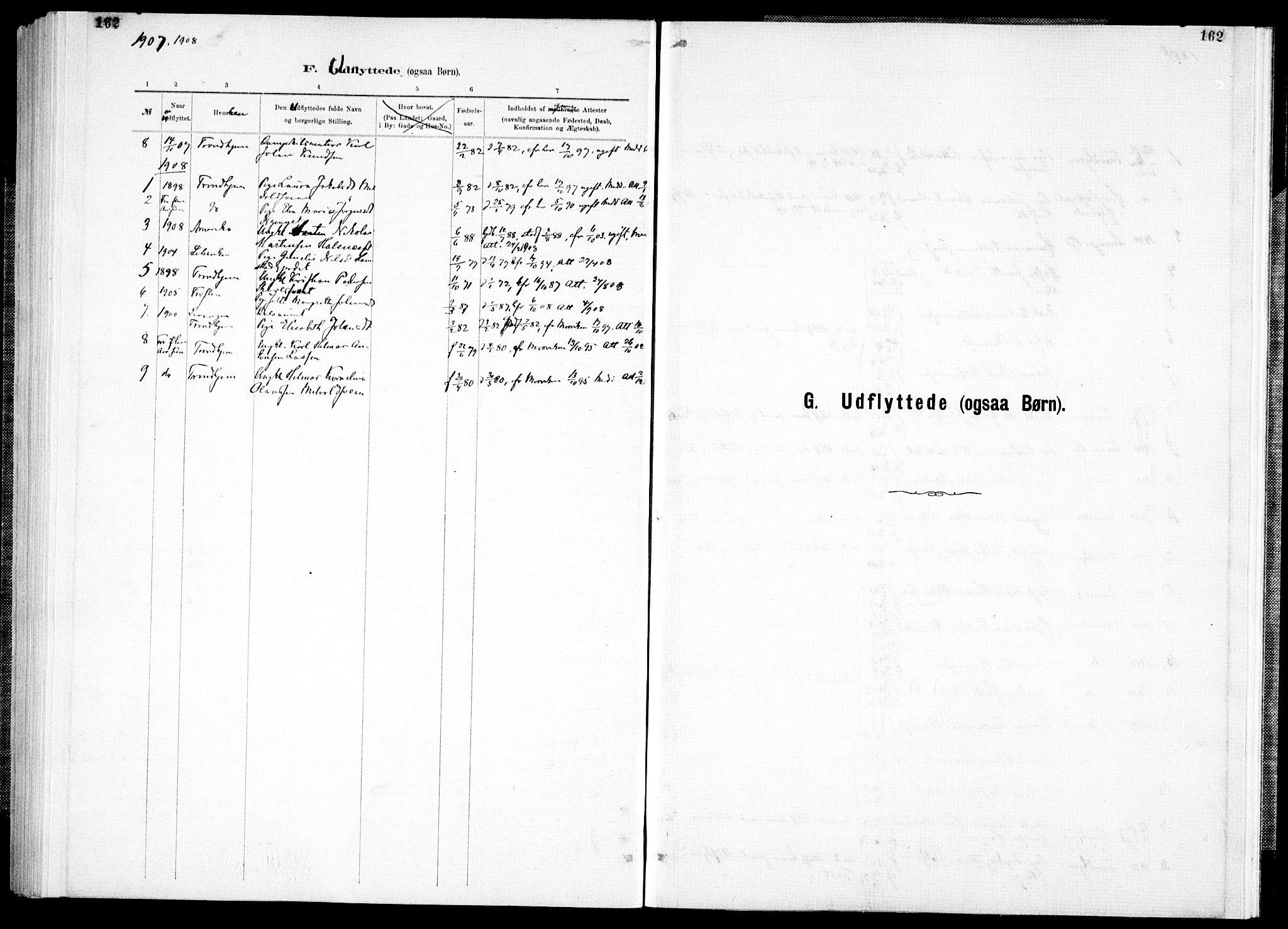 SAT, Ministerialprotokoller, klokkerbøker og fødselsregistre - Nord-Trøndelag, 733/L0325: Ministerialbok nr. 733A04, 1884-1908, s. 162