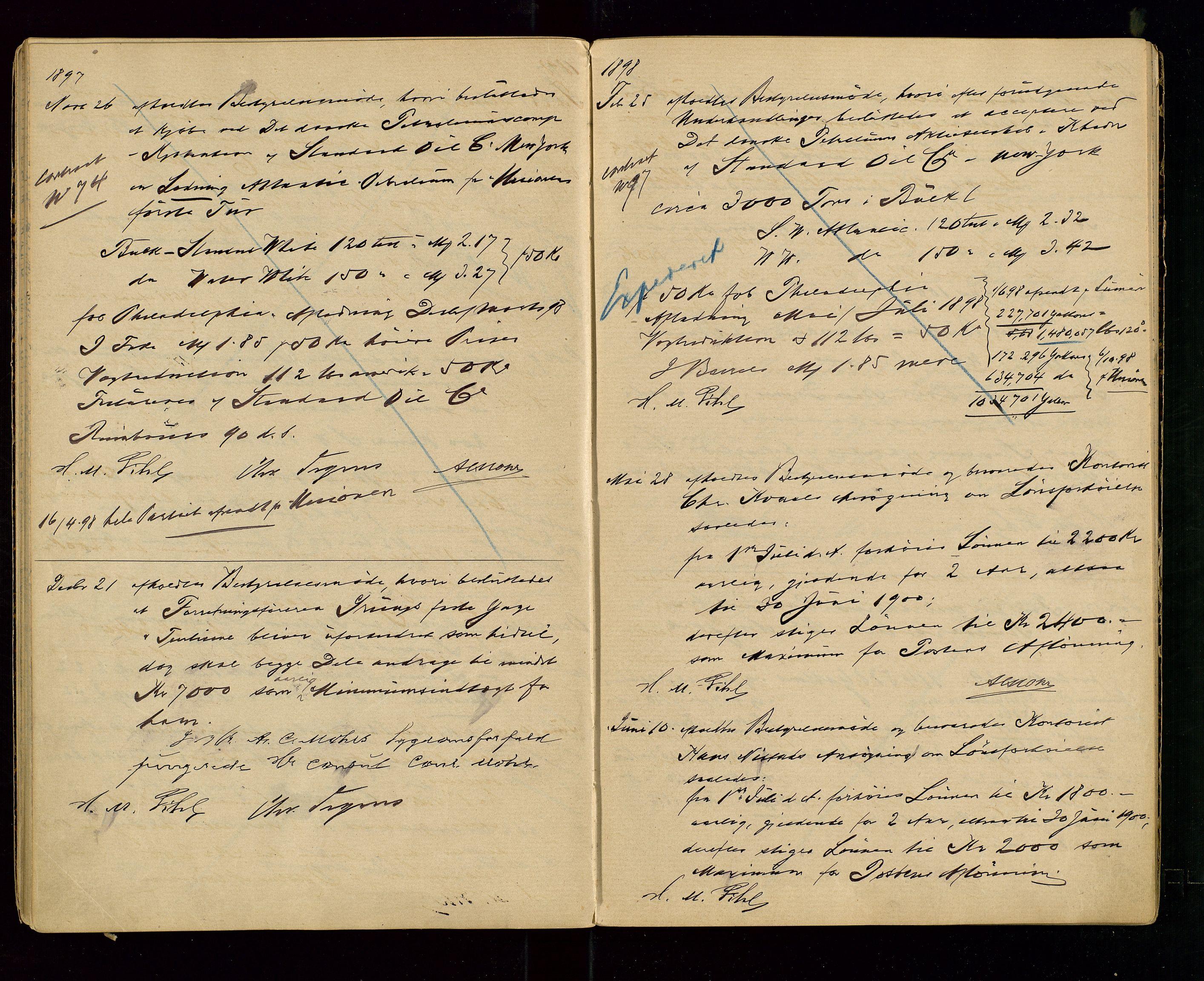 SAST, PA 1533 - A/S Vestlandske Petroleumscompani, A/Aa/L0001: Generalforsamlinger og styreprotokoller, 1890-1907, s. 32