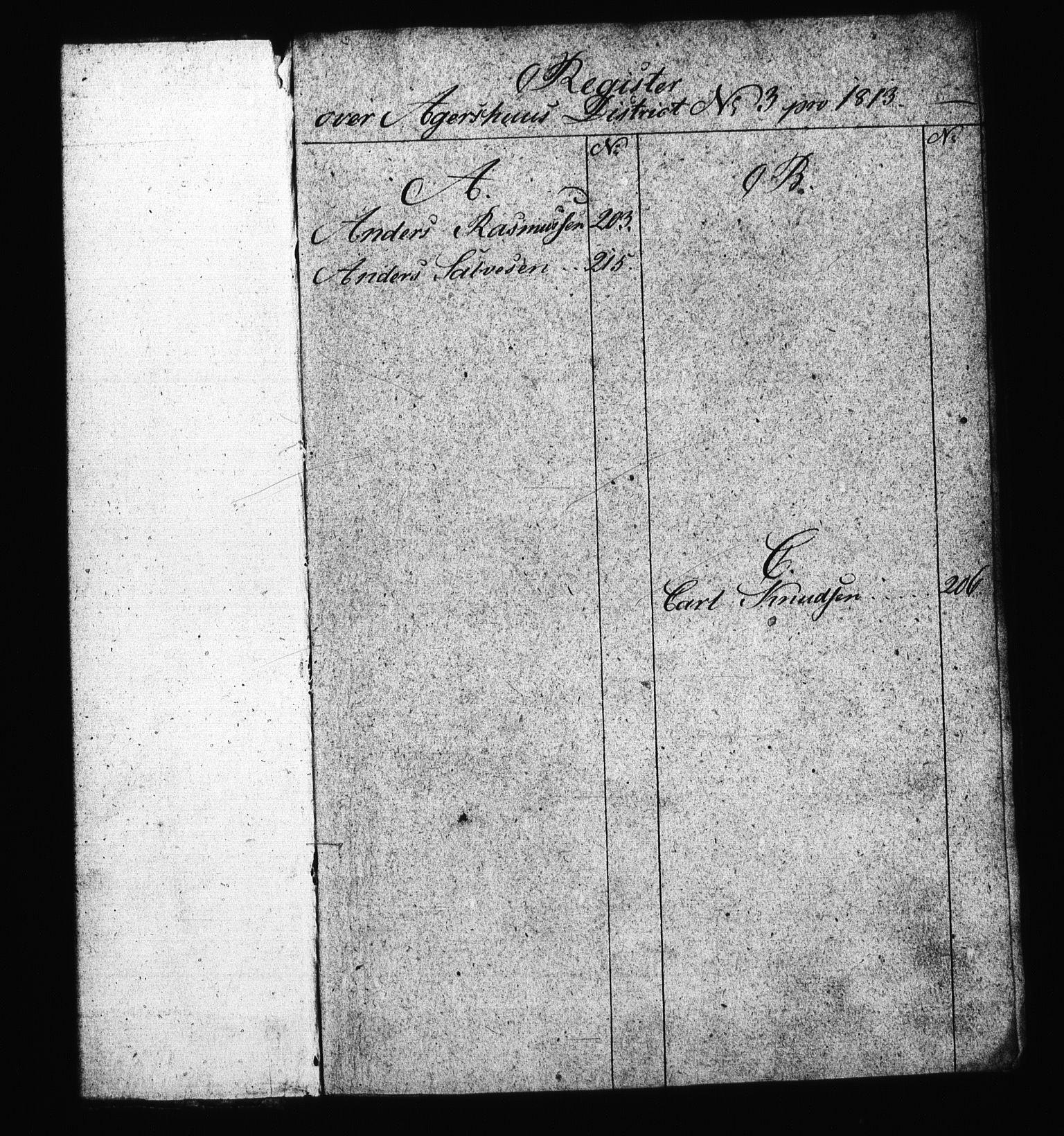 RA, Sjøetaten, F/L0007: Akershus distrikt, bind 3, 1813