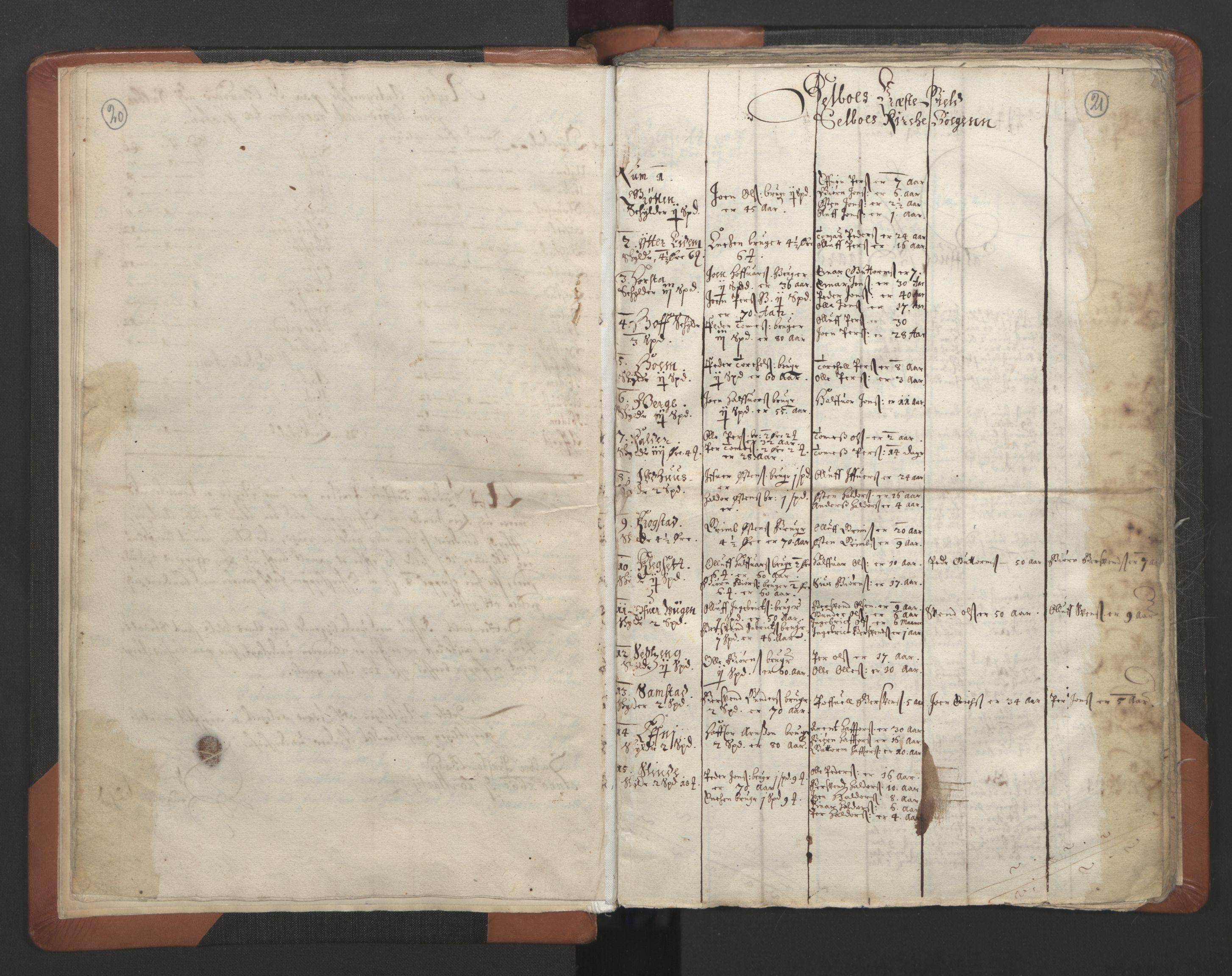 RA, Sogneprestenes manntall 1664-1666, nr. 32: Innherad prosti, 1664-1666, s. 20-21