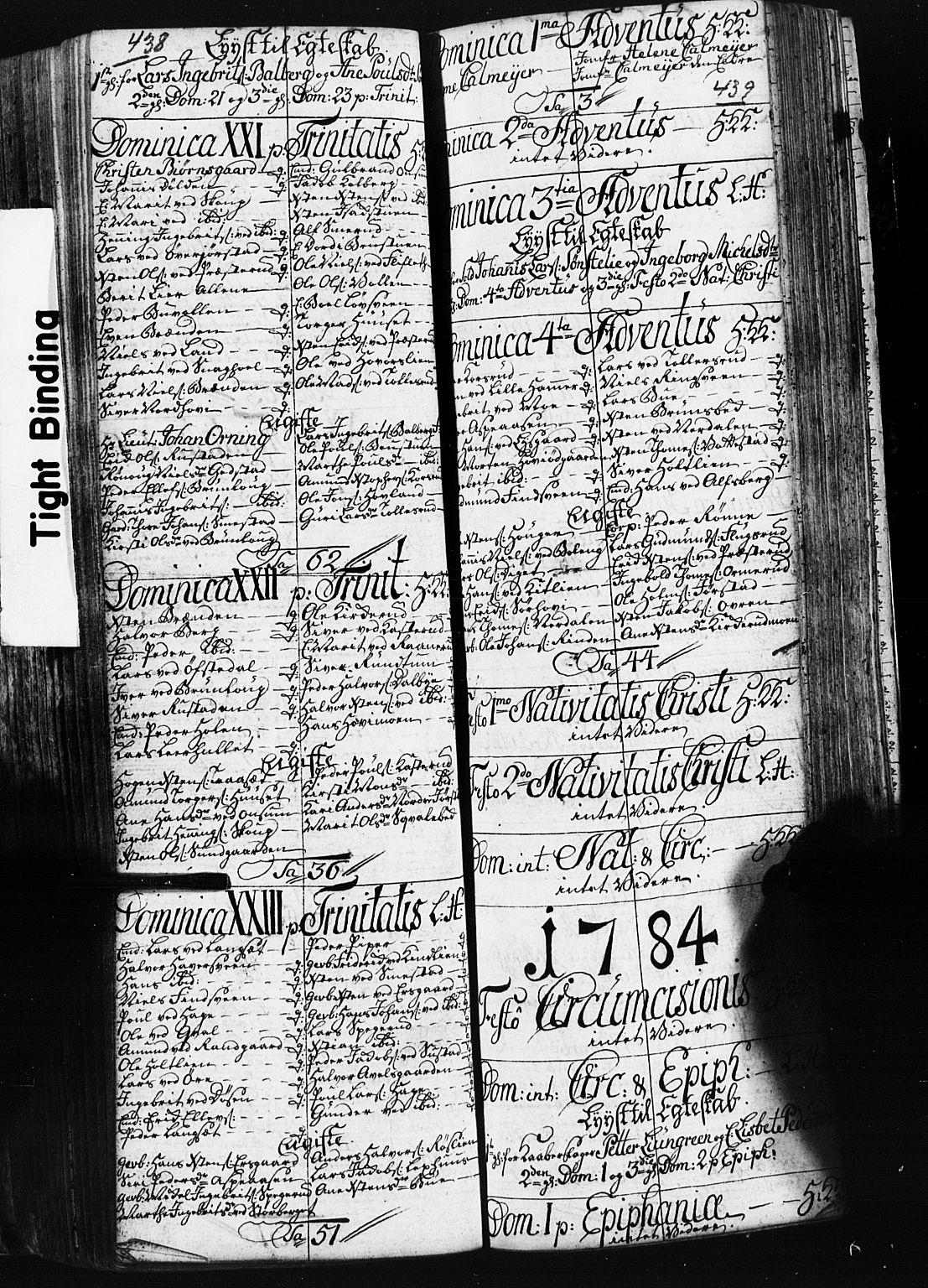 SAH, Fåberg prestekontor, Klokkerbok nr. 3, 1768-1796, s. 438-439