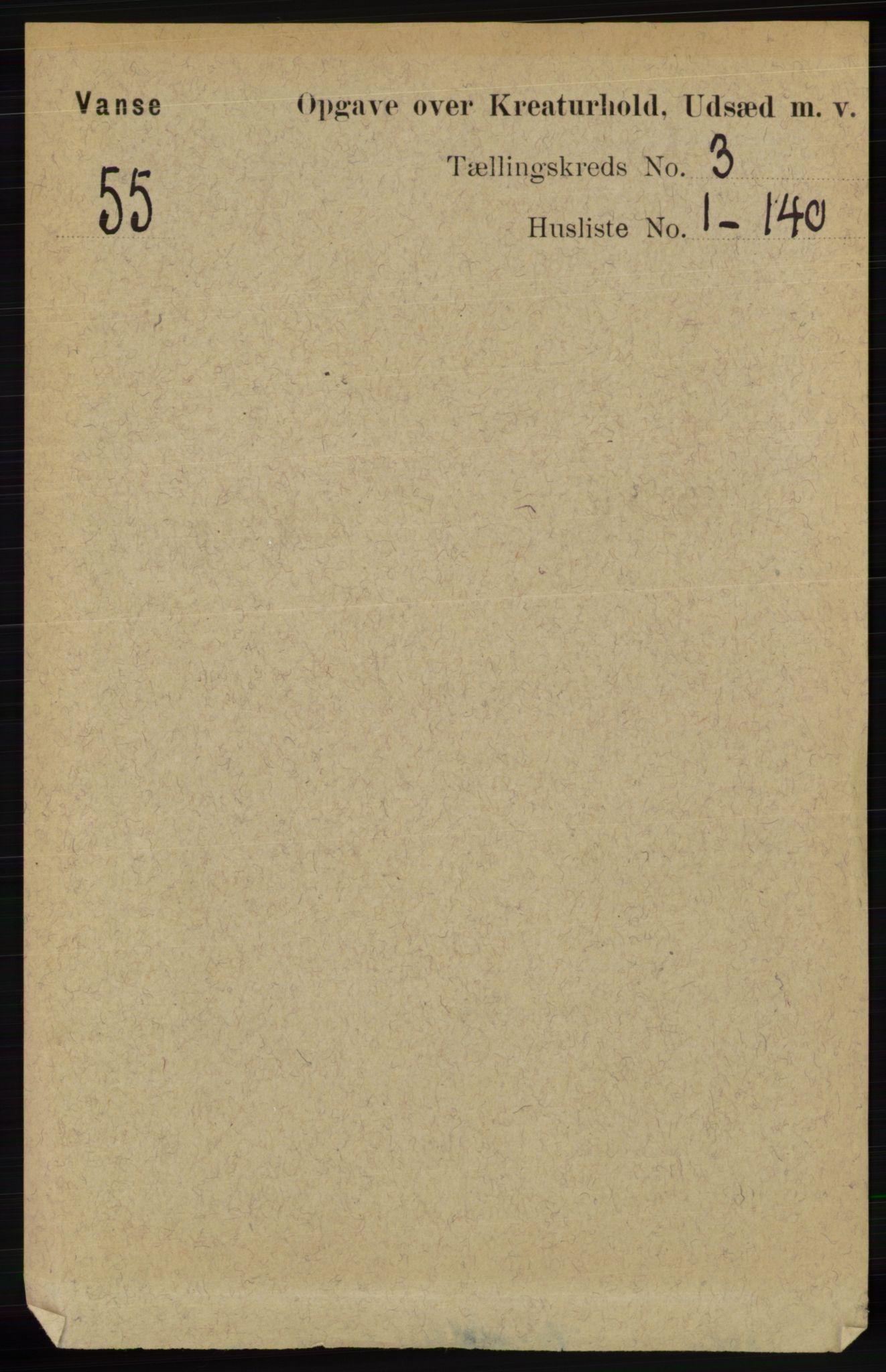RA, Folketelling 1891 for 1041 Vanse herred, 1891, s. 8238