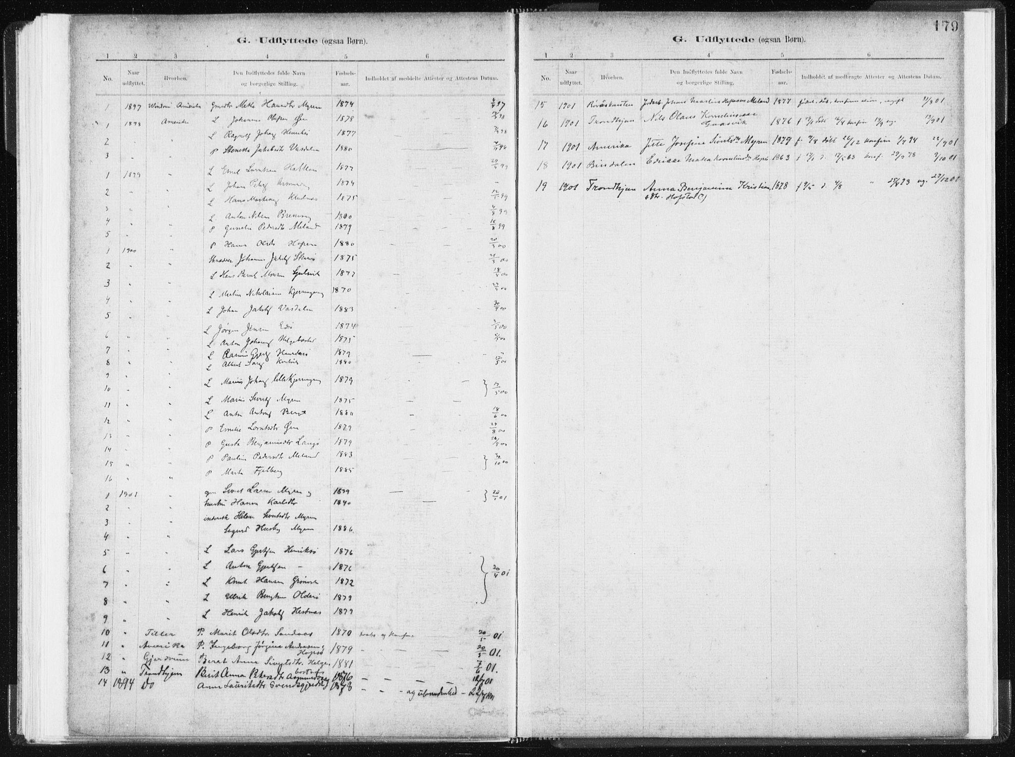 SAT, Ministerialprotokoller, klokkerbøker og fødselsregistre - Sør-Trøndelag, 634/L0533: Ministerialbok nr. 634A09, 1882-1901, s. 179