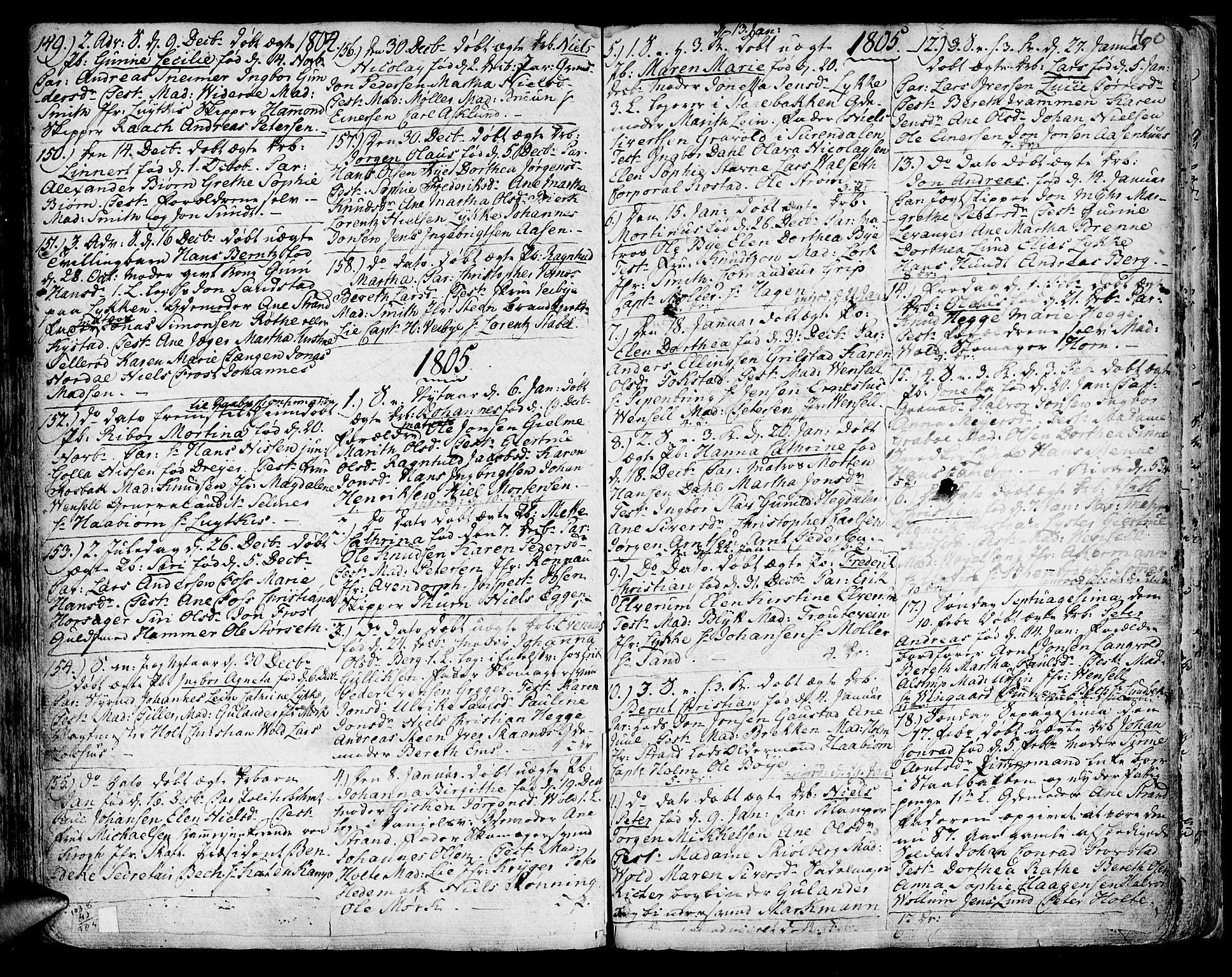 SAT, Ministerialprotokoller, klokkerbøker og fødselsregistre - Sør-Trøndelag, 601/L0039: Ministerialbok nr. 601A07, 1770-1819, s. 160