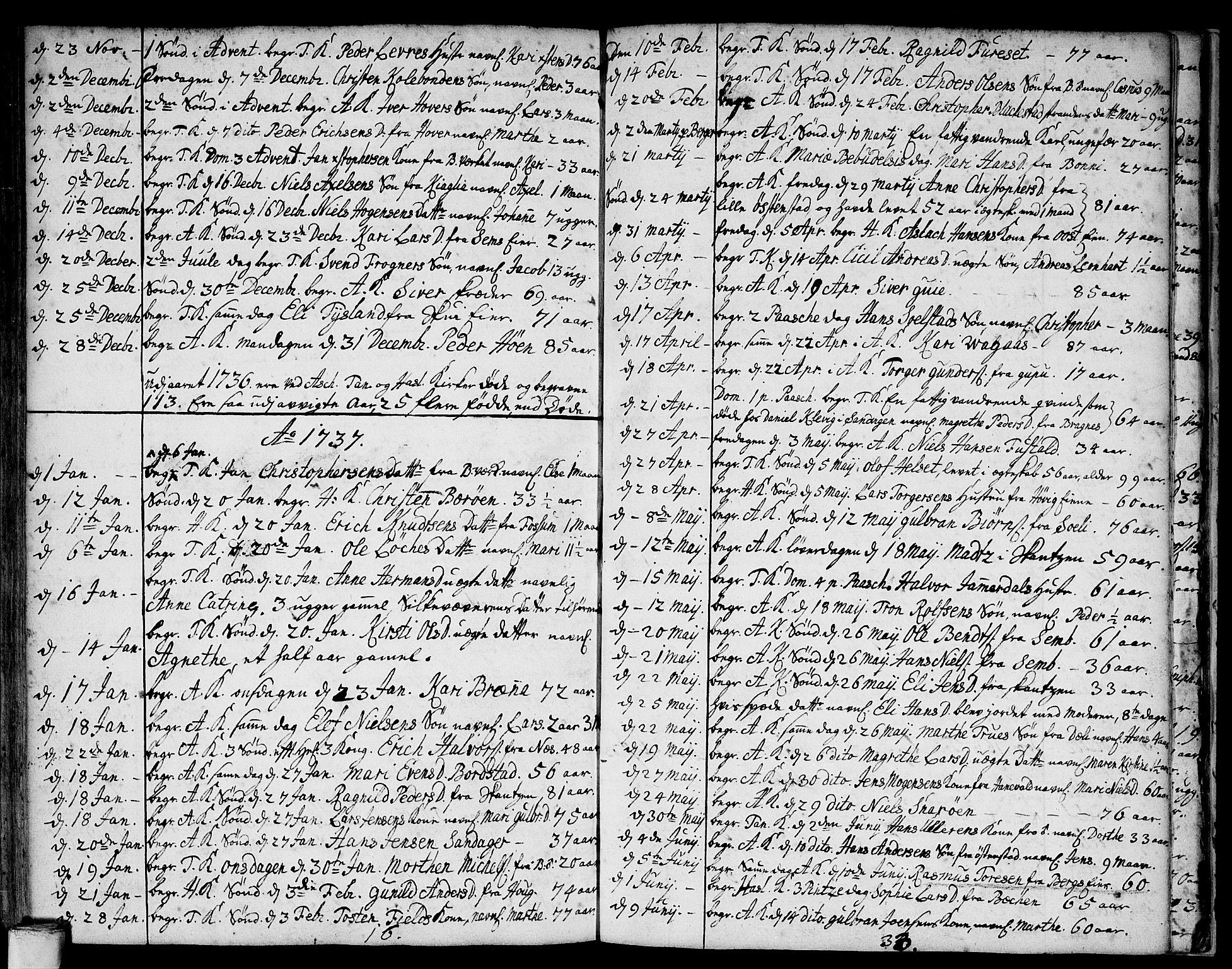 SAO, Asker prestekontor Kirkebøker, F/Fa/L0001: Ministerialbok nr. I 1, 1726-1744, s. 100