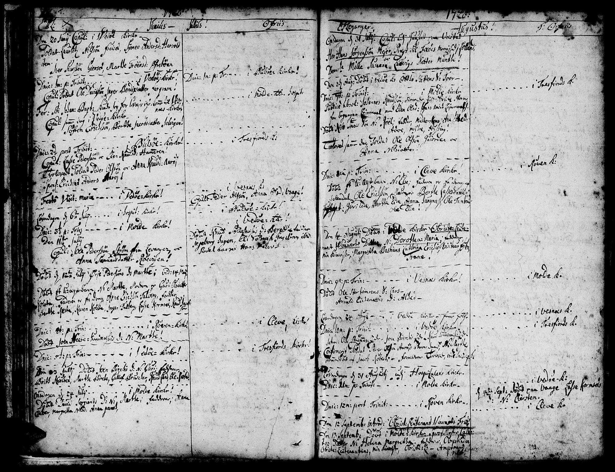 SAT, Ministerialprotokoller, klokkerbøker og fødselsregistre - Møre og Romsdal, 547/L0599: Ministerialbok nr. 547A01, 1721-1764, s. 74-75