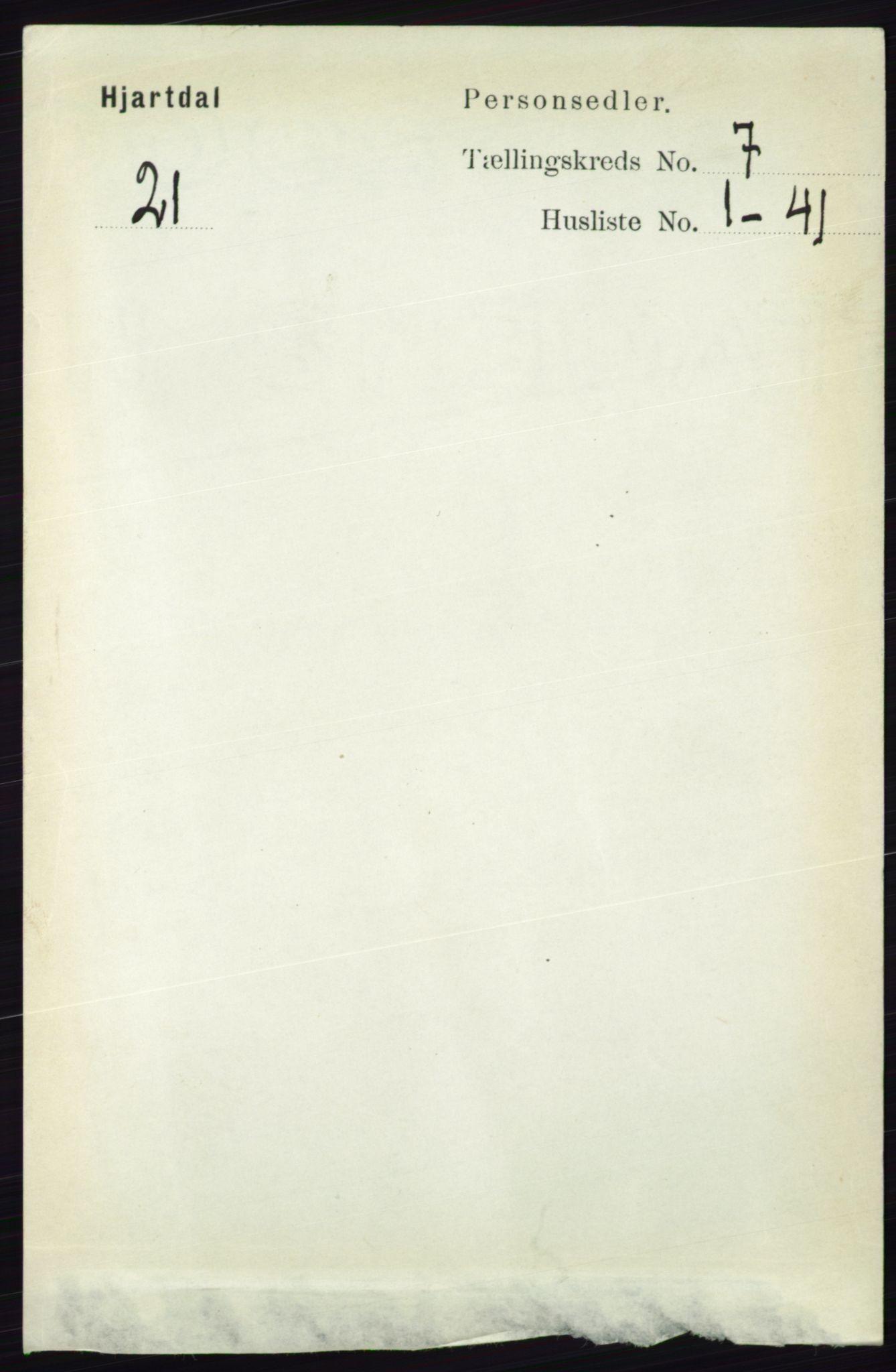 RA, Folketelling 1891 for 0827 Hjartdal herred, 1891, s. 2541