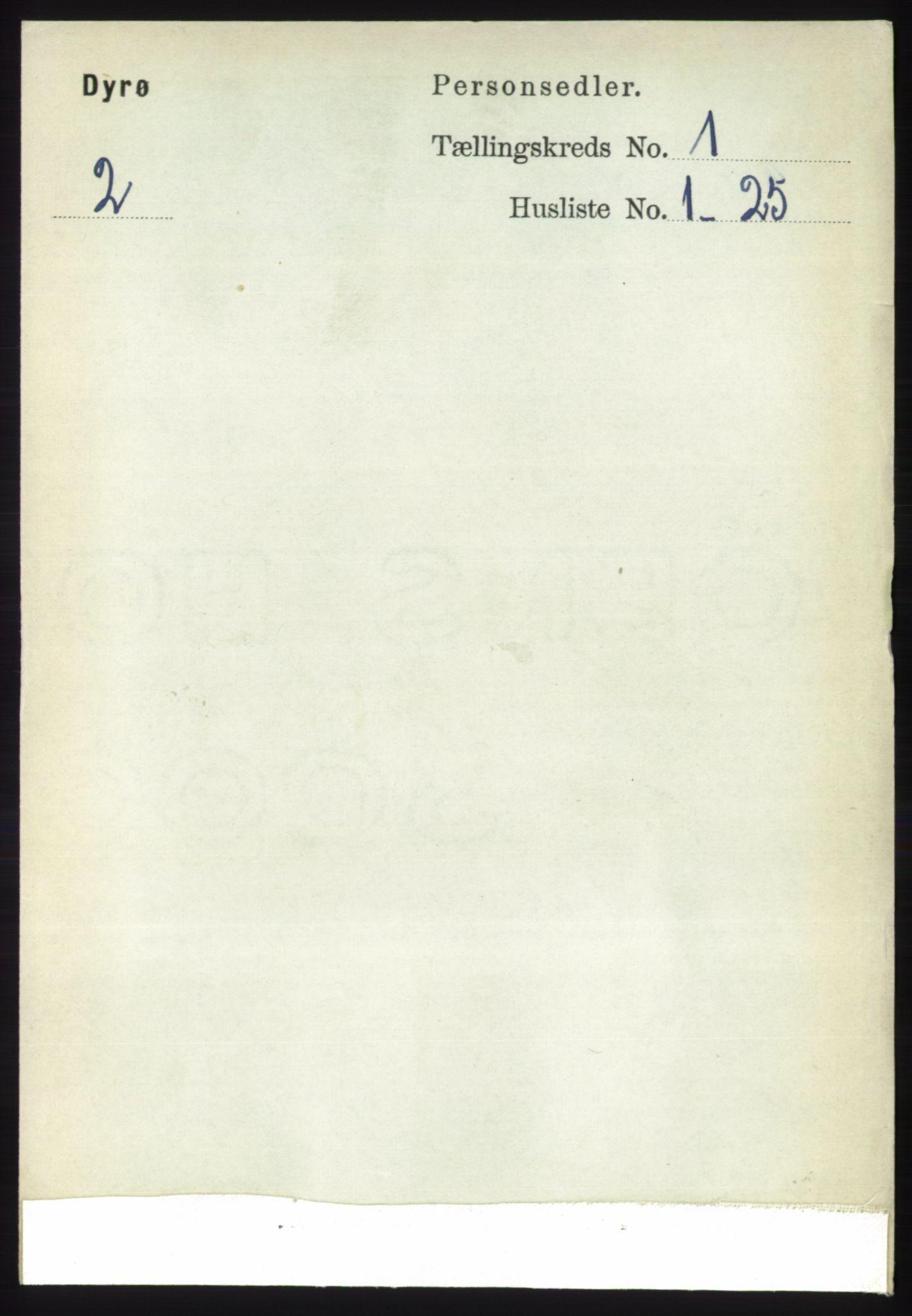 RA, Folketelling 1891 for 1926 Dyrøy herred, 1891, s. 71