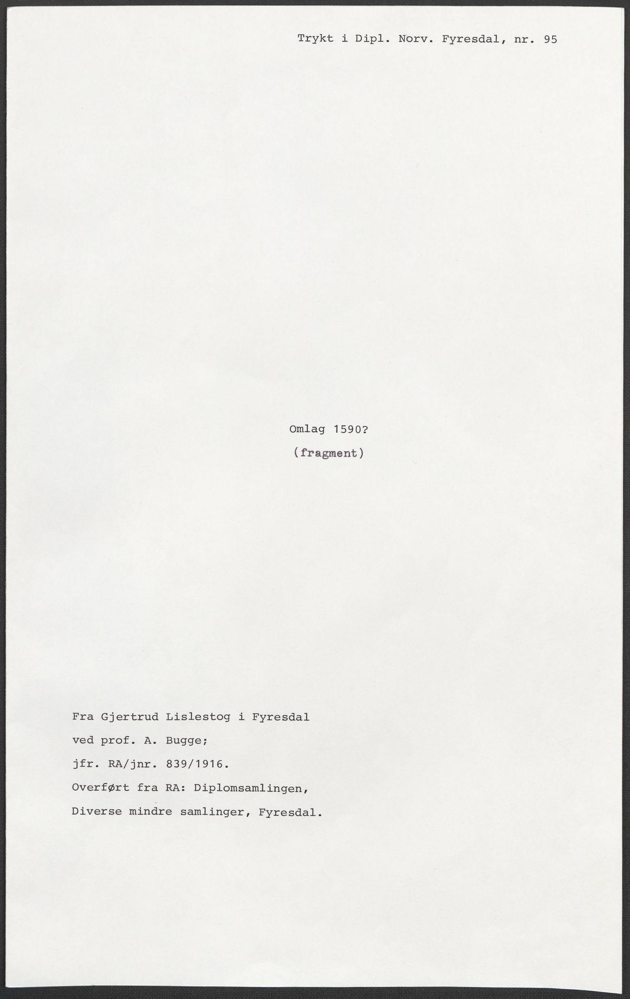 RA, Riksarkivets diplomsamling, F02/L0092: Dokumenter, 1590, s. 50