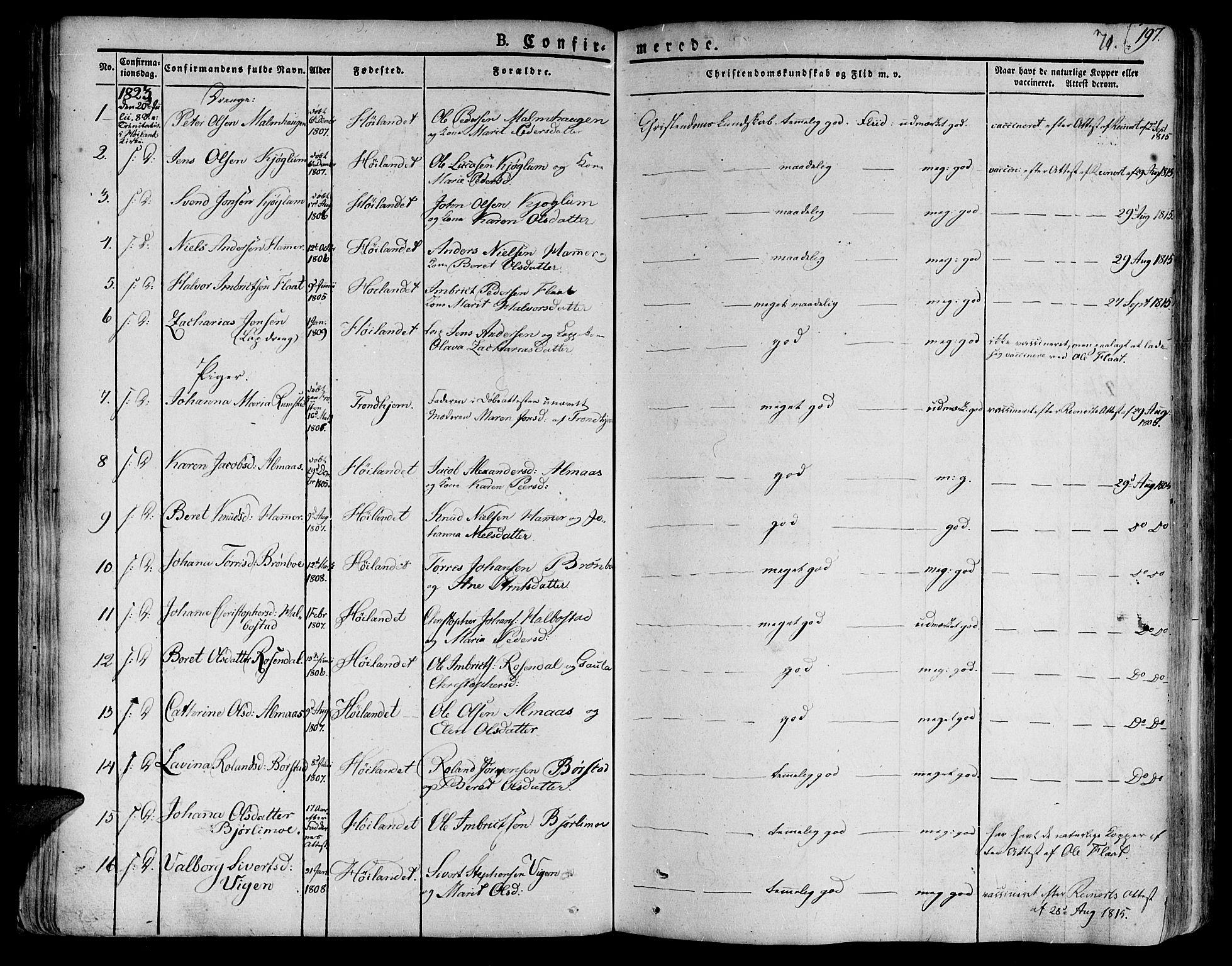 SAT, Ministerialprotokoller, klokkerbøker og fødselsregistre - Nord-Trøndelag, 758/L0510: Ministerialbok nr. 758A01 /1, 1821-1841, s. 71