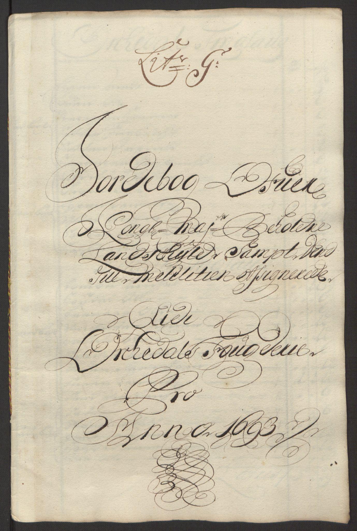 RA, Rentekammeret inntil 1814, Reviderte regnskaper, Fogderegnskap, R58/L3938: Fogderegnskap Orkdal, 1693, s. 128