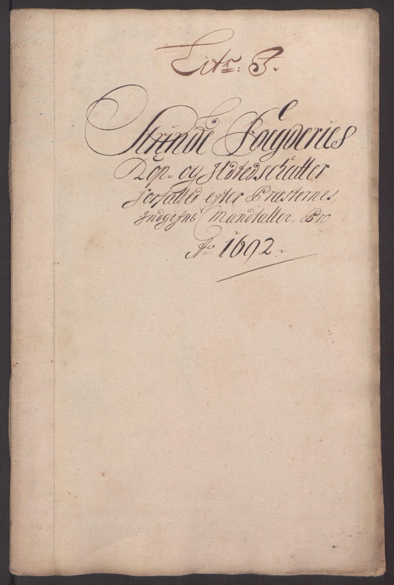 RA, Rentekammeret inntil 1814, Reviderte regnskaper, Fogderegnskap, R61/L4103: Fogderegnskap Strinda og Selbu, 1691-1692, s. 318