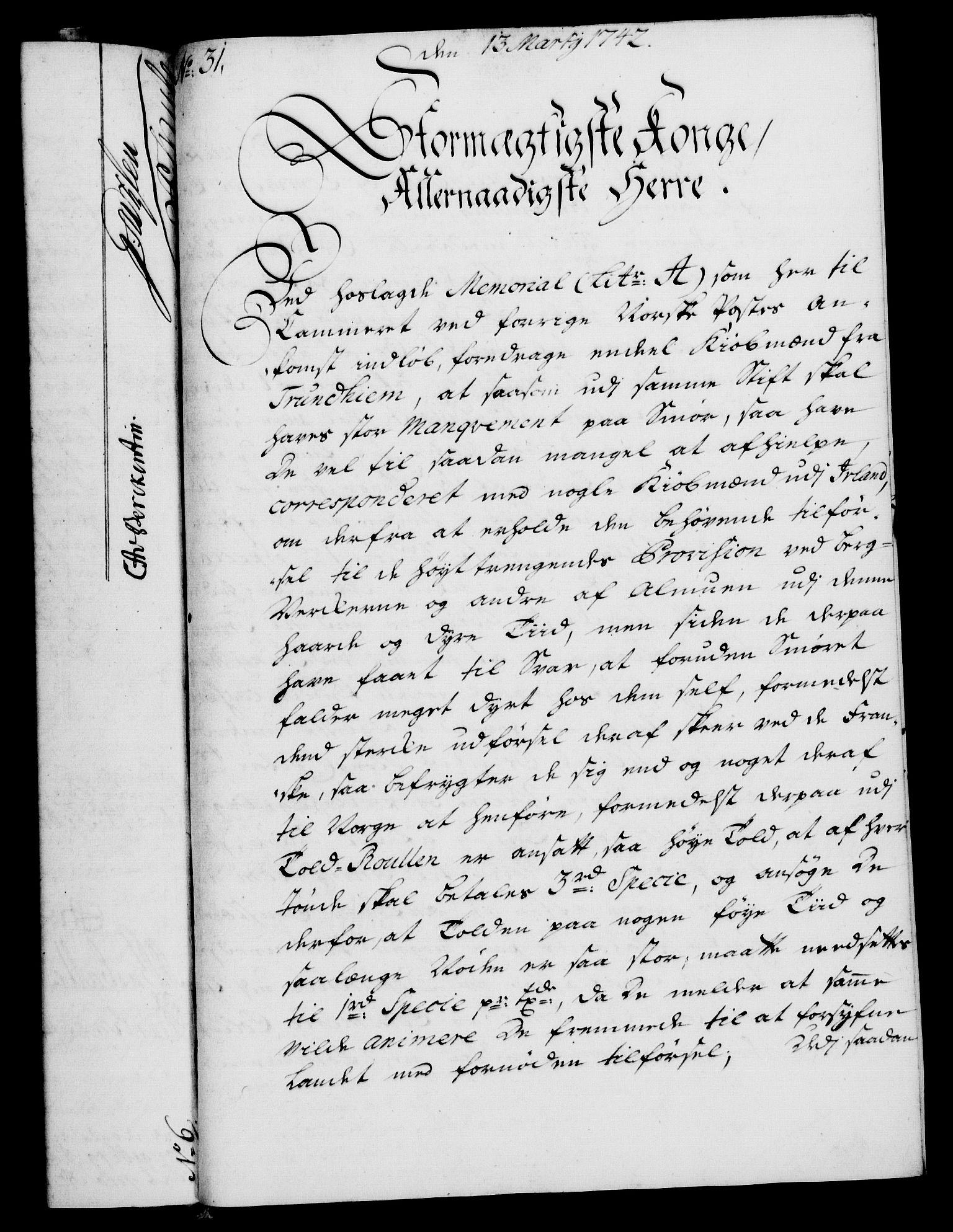 RA, Rentekammeret, Kammerkanselliet, G/Gf/Gfa/L0025: Norsk relasjons- og resolusjonsprotokoll (merket RK 52.25), 1742, s. 185