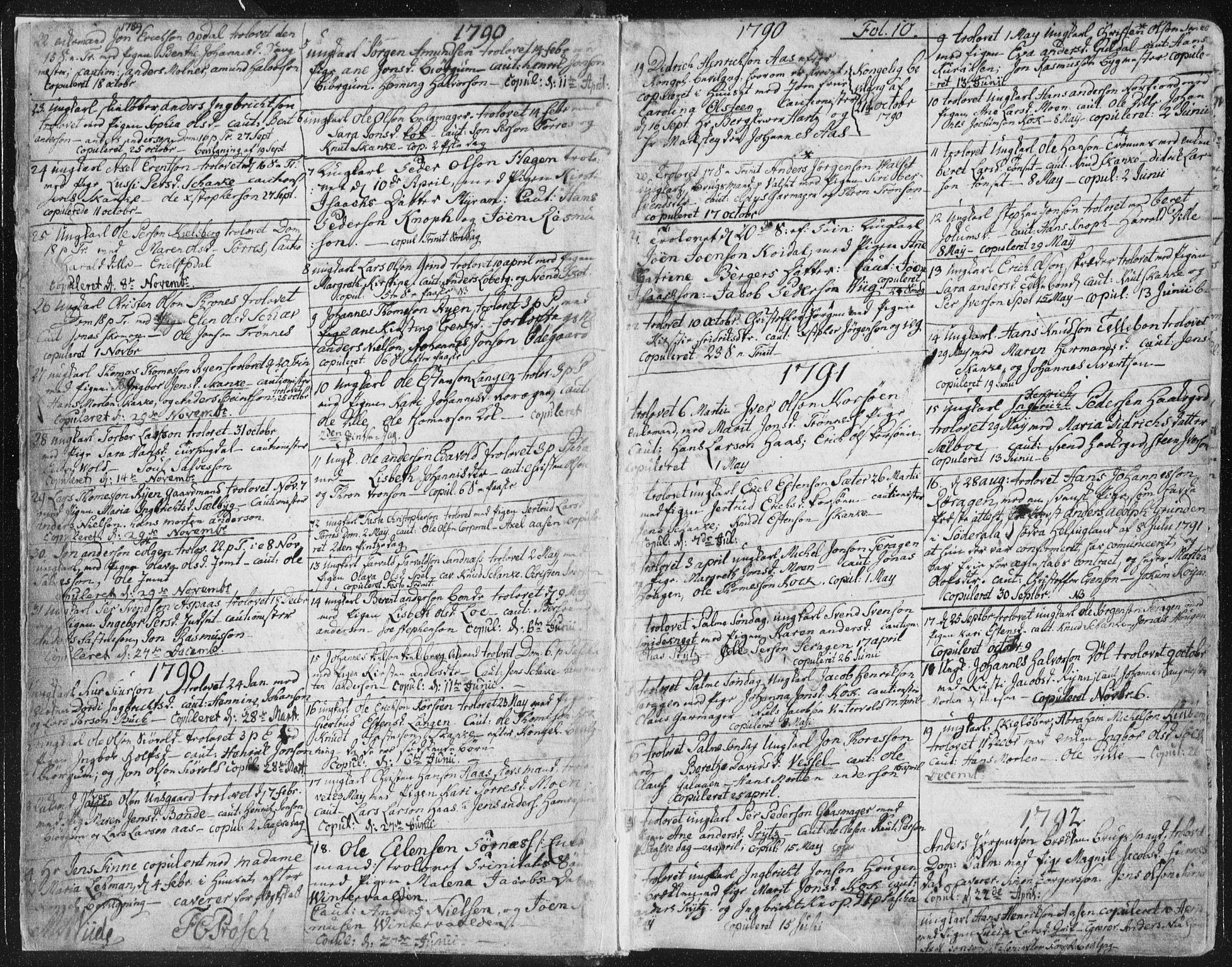 SAT, Ministerialprotokoller, klokkerbøker og fødselsregistre - Sør-Trøndelag, 681/L0926: Ministerialbok nr. 681A04, 1767-1797, s. 10