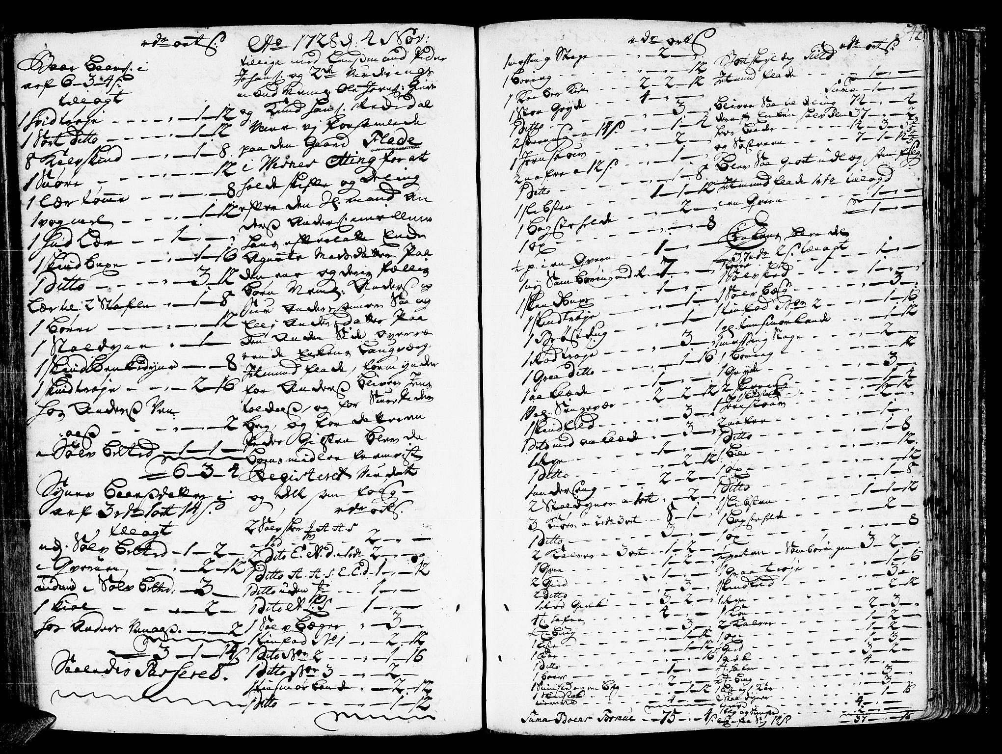 SAT, Romsdal sorenskriveri, 3/3A/L0006: Skifteprotokoll, 1718-1730, s. 541b-542a