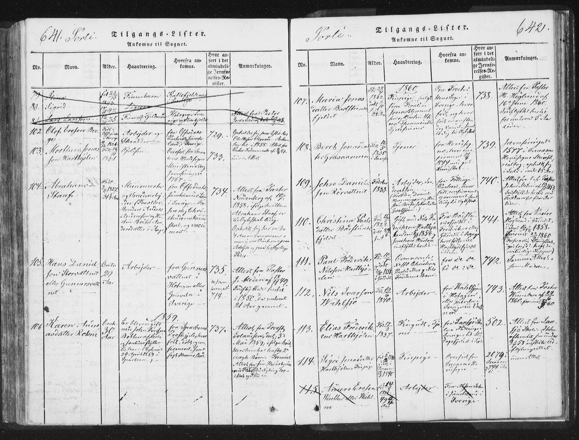 SAT, Ministerialprotokoller, klokkerbøker og fødselsregistre - Nord-Trøndelag, 755/L0491: Ministerialbok nr. 755A01 /2, 1817-1864, s. 641-642