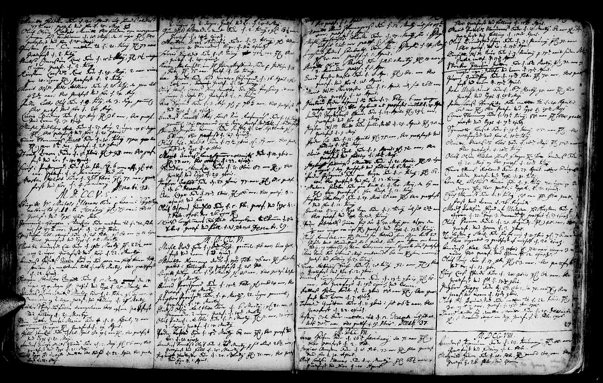 SAT, Ministerialprotokoller, klokkerbøker og fødselsregistre - Nord-Trøndelag, 746/L0439: Ministerialbok nr. 746A01, 1688-1759, s. 54