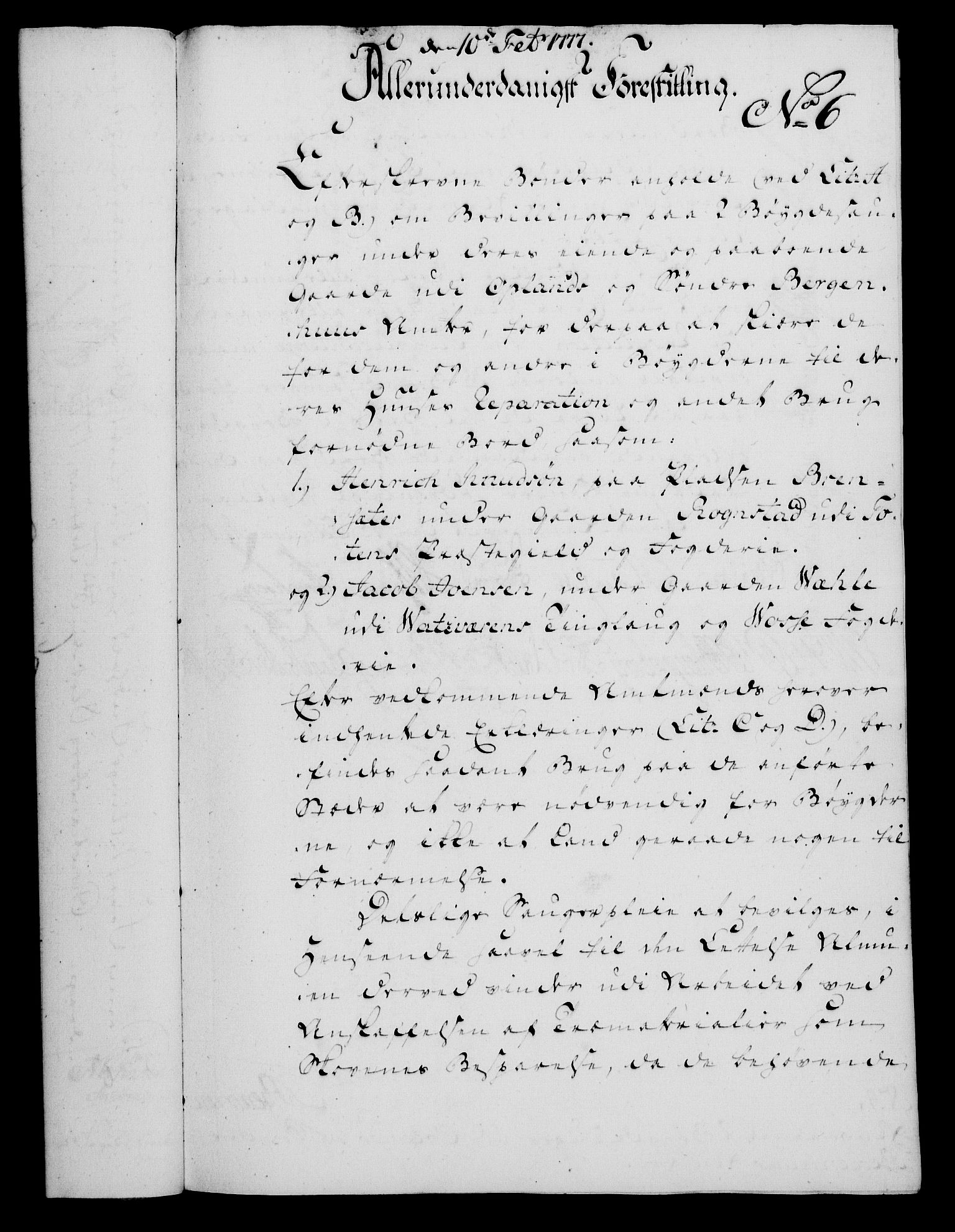 RA, Rentekammeret, Kammerkanselliet, G/Gf/Gfa/L0059: Norsk relasjons- og resolusjonsprotokoll (merket RK 52.59), 1777, s. 48