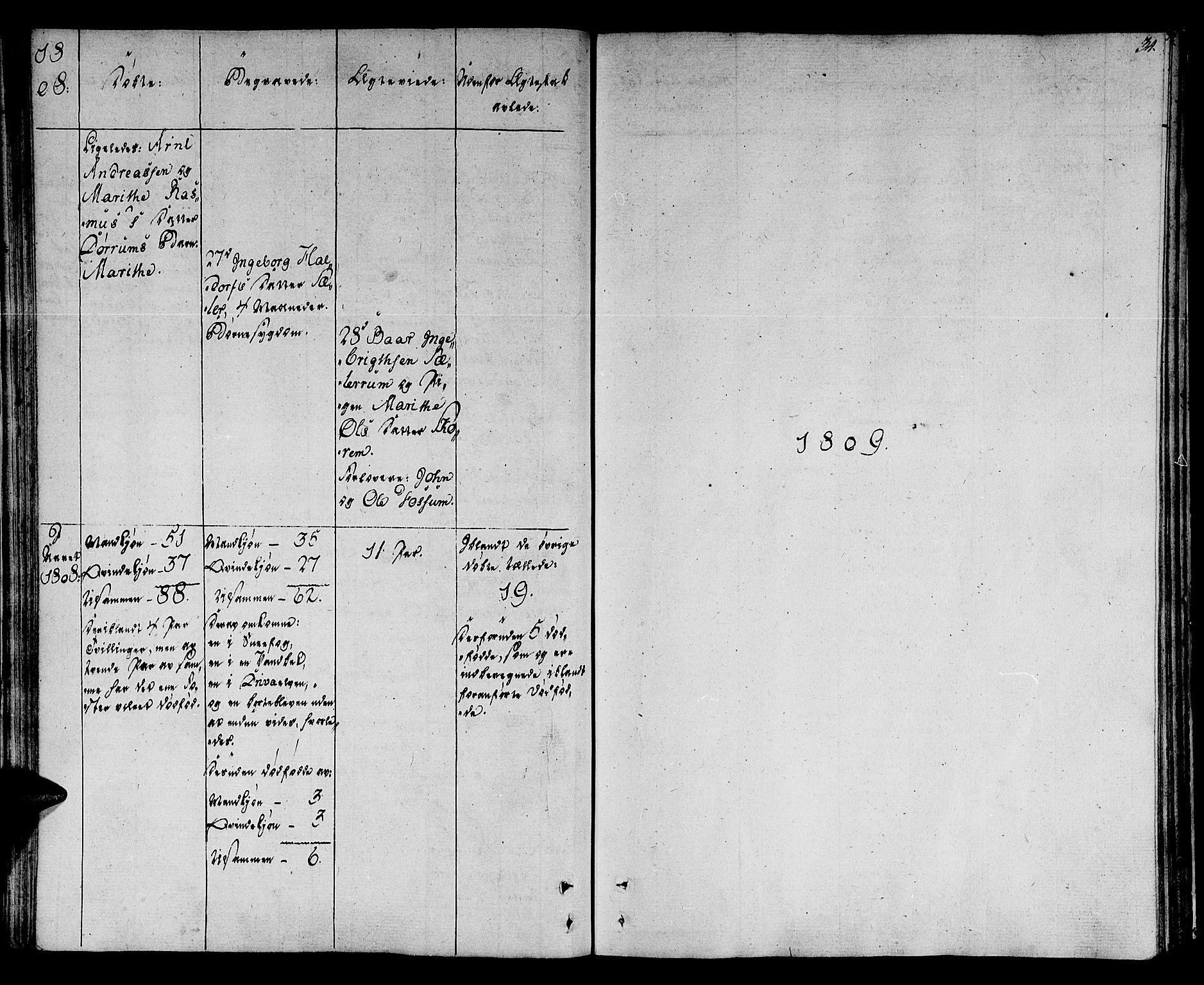 SAT, Ministerialprotokoller, klokkerbøker og fødselsregistre - Sør-Trøndelag, 678/L0894: Ministerialbok nr. 678A04, 1806-1815, s. 34