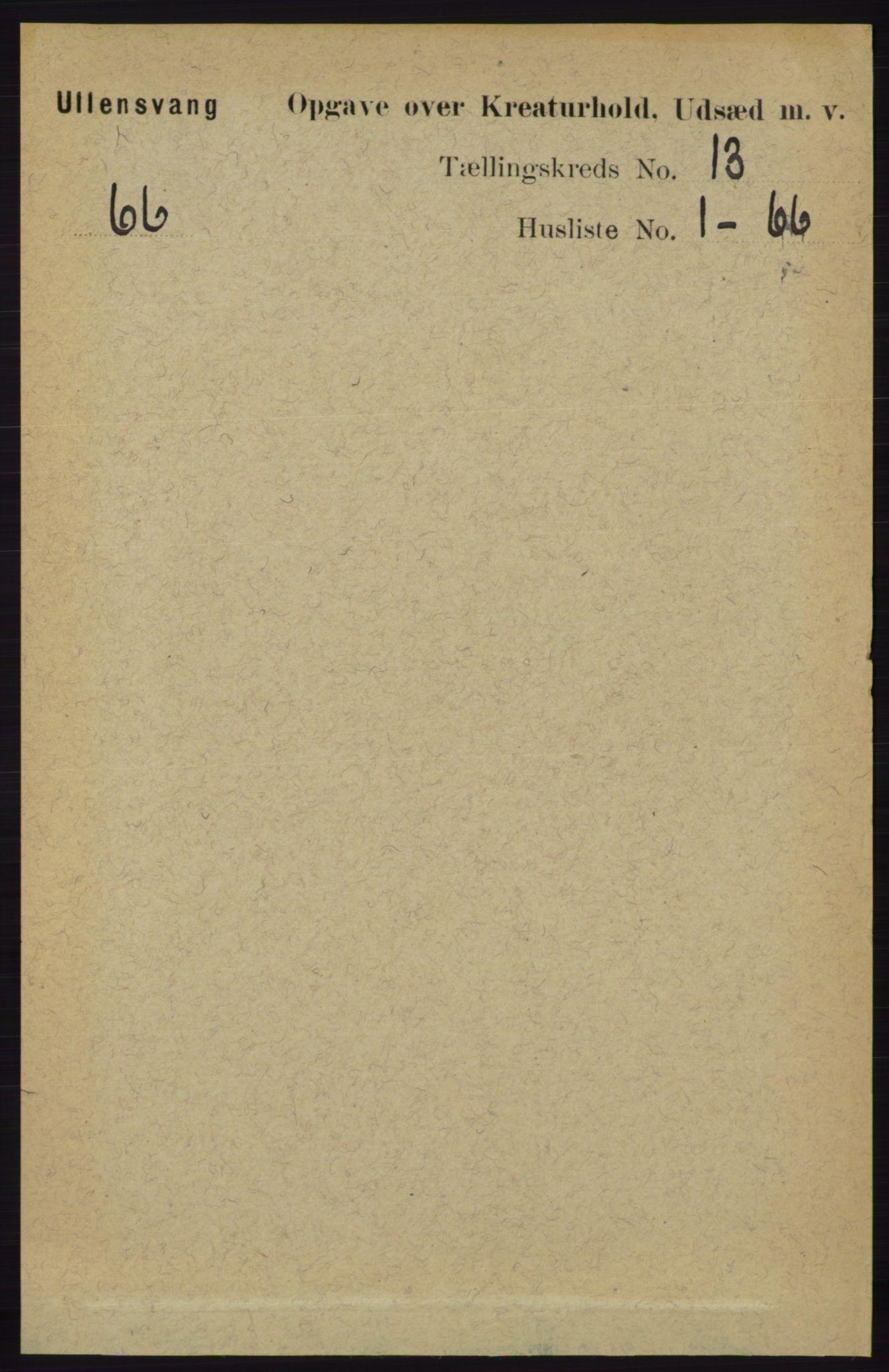 RA, Folketelling 1891 for 1230 Ullensvang herred, 1891, s. 8162