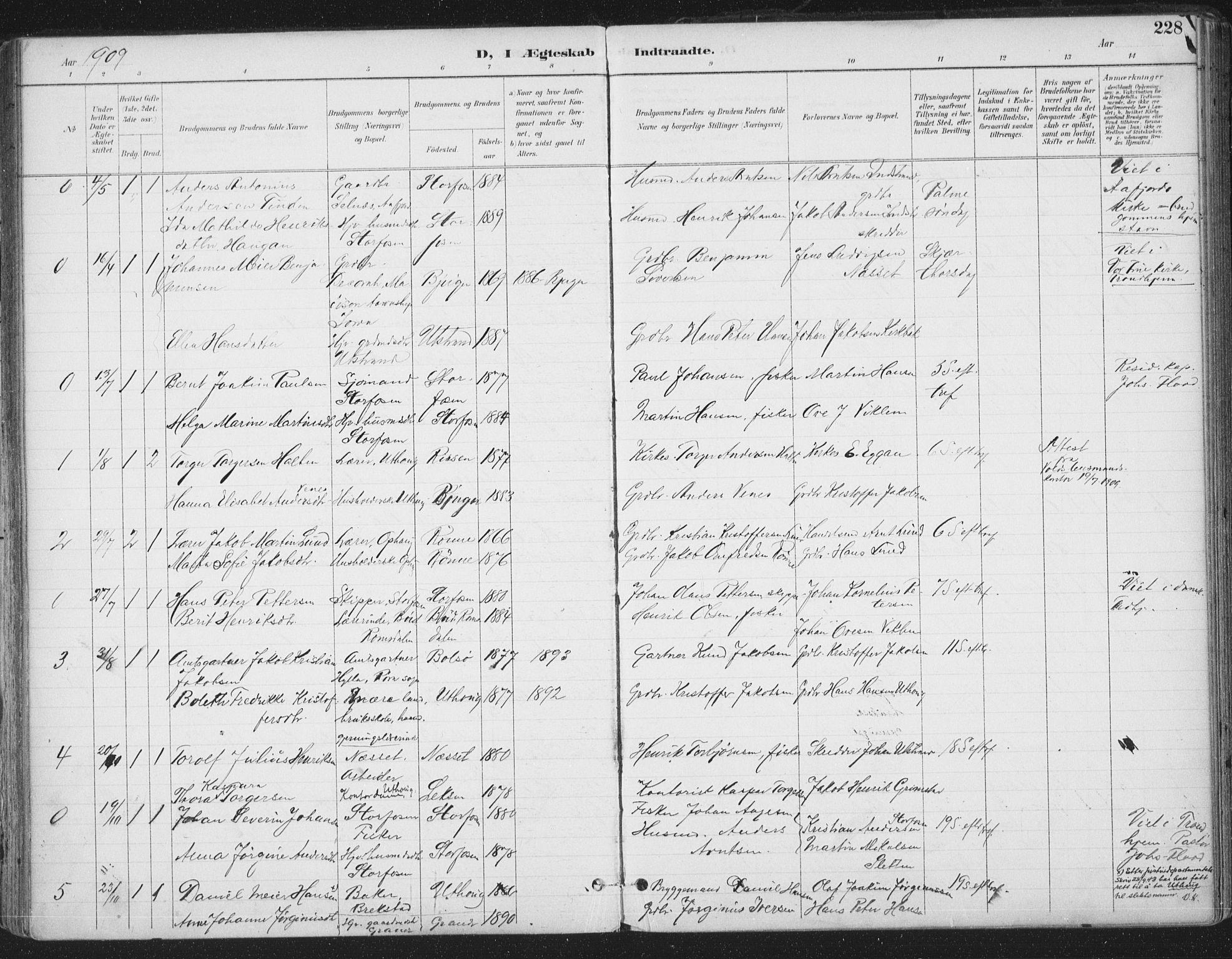 SAT, Ministerialprotokoller, klokkerbøker og fødselsregistre - Sør-Trøndelag, 659/L0743: Ministerialbok nr. 659A13, 1893-1910, s. 228