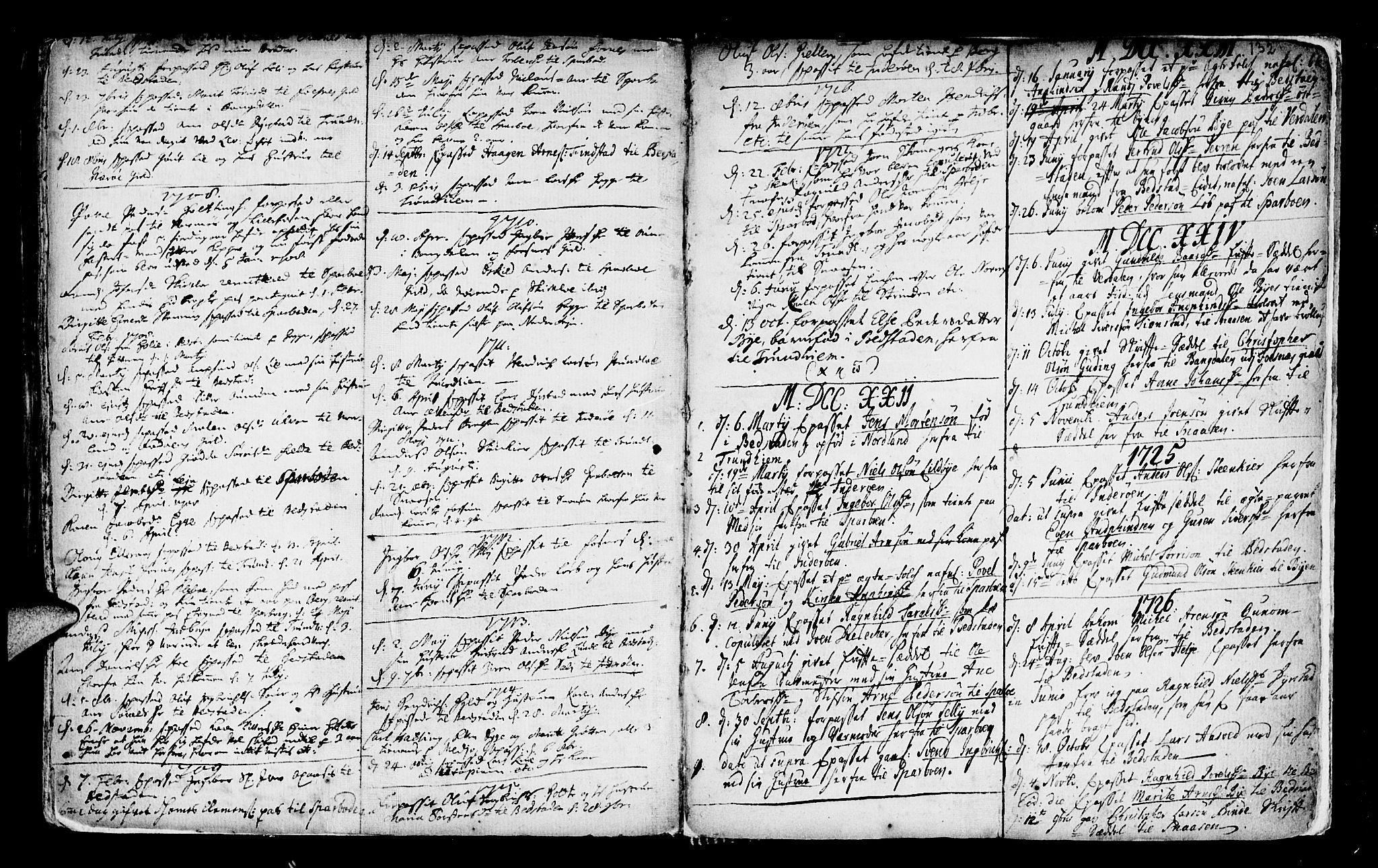 SAT, Ministerialprotokoller, klokkerbøker og fødselsregistre - Nord-Trøndelag, 746/L0439: Ministerialbok nr. 746A01, 1688-1759, s. 132