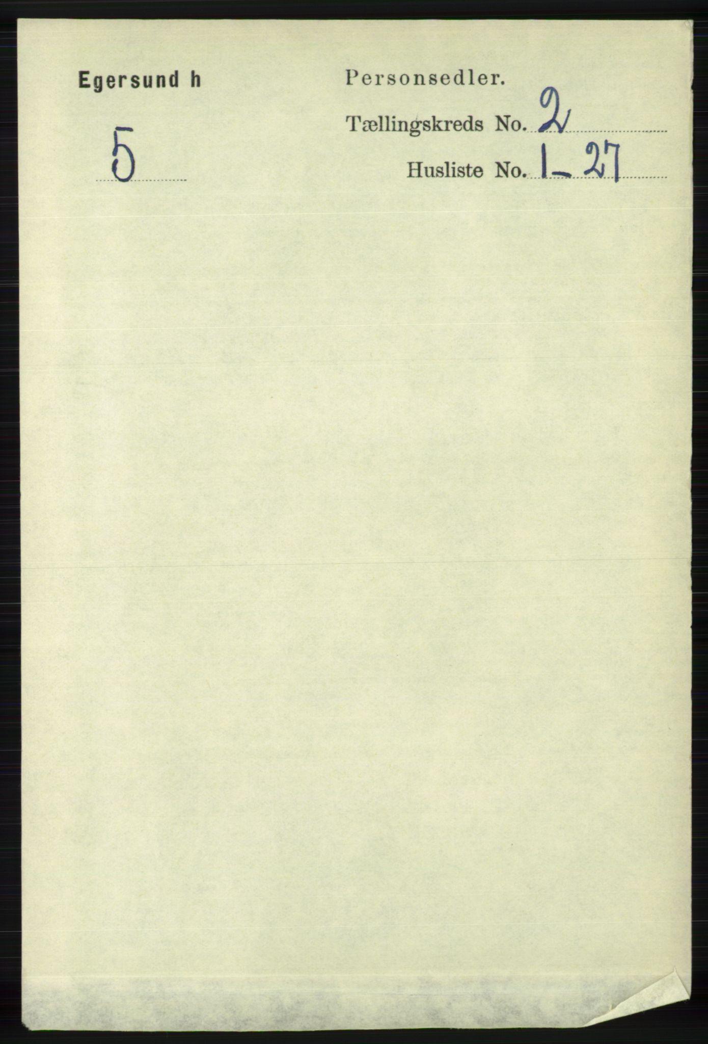 RA, Folketelling 1891 for 1116 Eigersund herred, 1891, s. 451