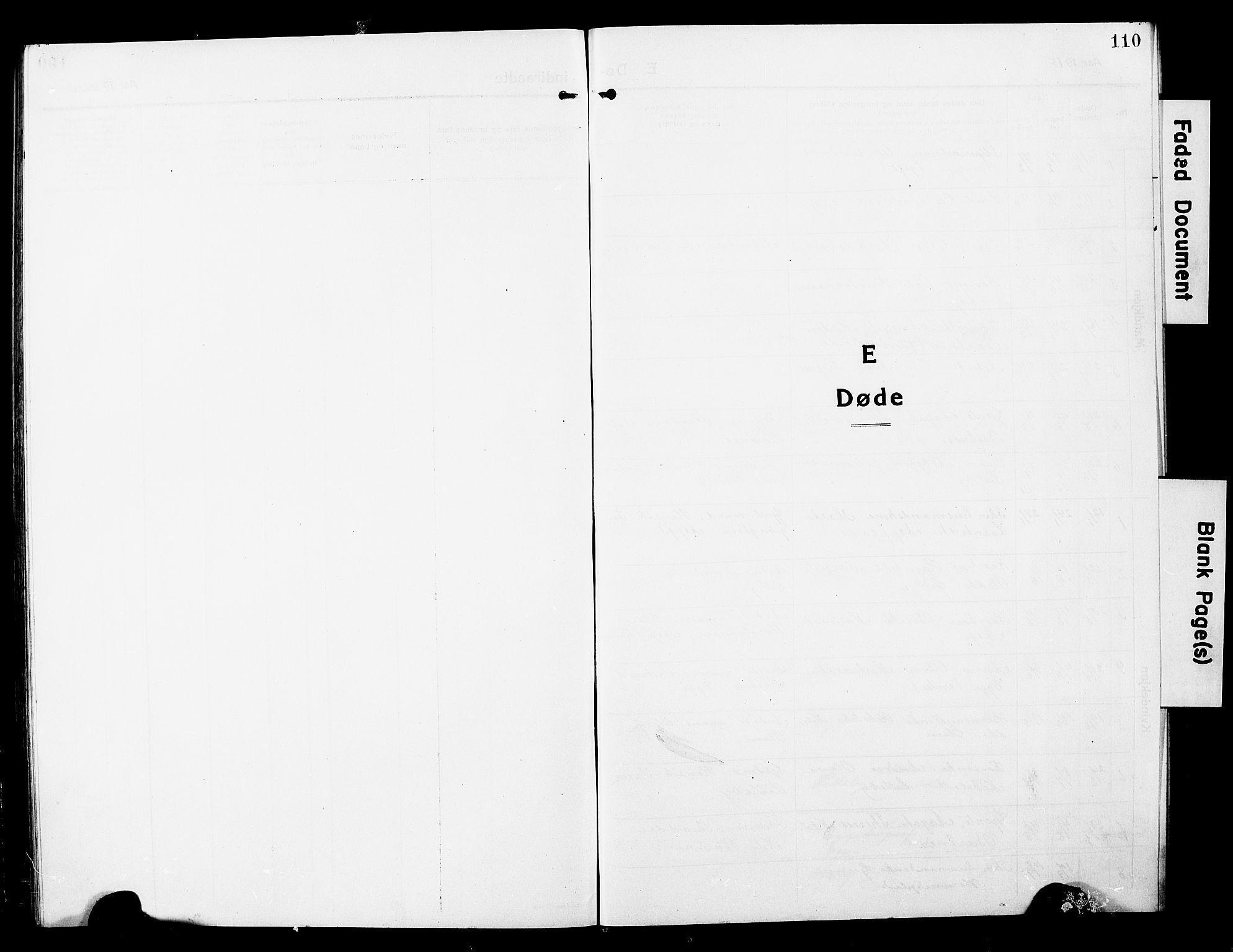 SAT, Ministerialprotokoller, klokkerbøker og fødselsregistre - Nord-Trøndelag, 740/L0382: Klokkerbok nr. 740C03, 1915-1927, s. 110