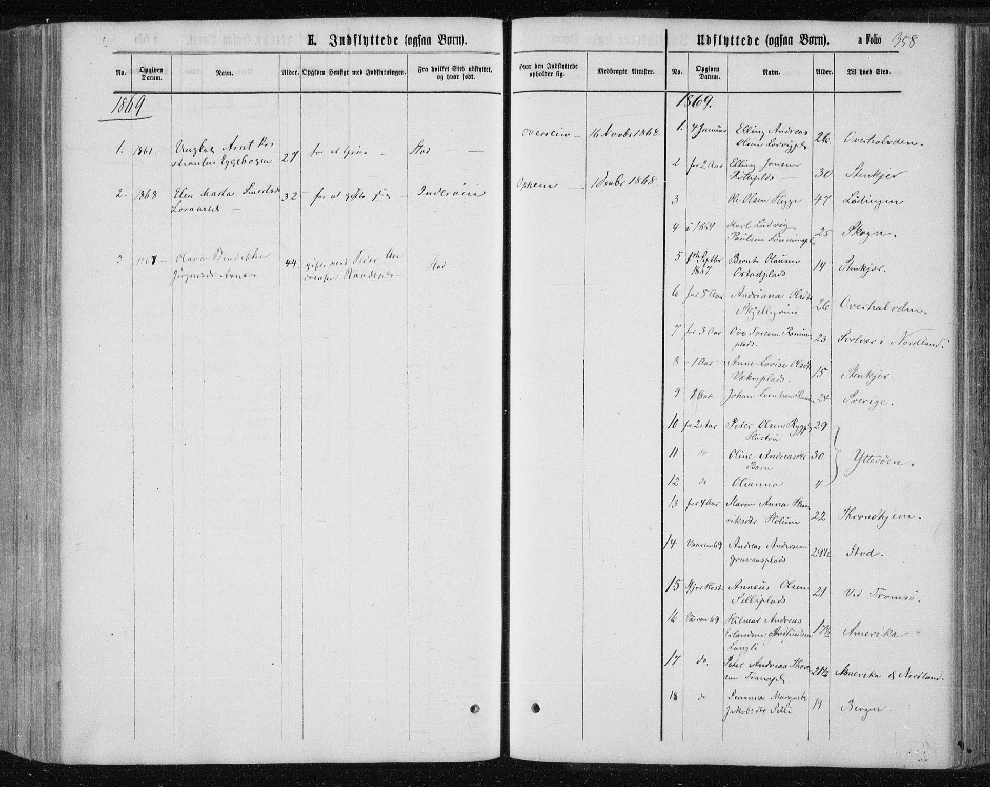 SAT, Ministerialprotokoller, klokkerbøker og fødselsregistre - Nord-Trøndelag, 735/L0345: Ministerialbok nr. 735A08 /1, 1863-1872, s. 358