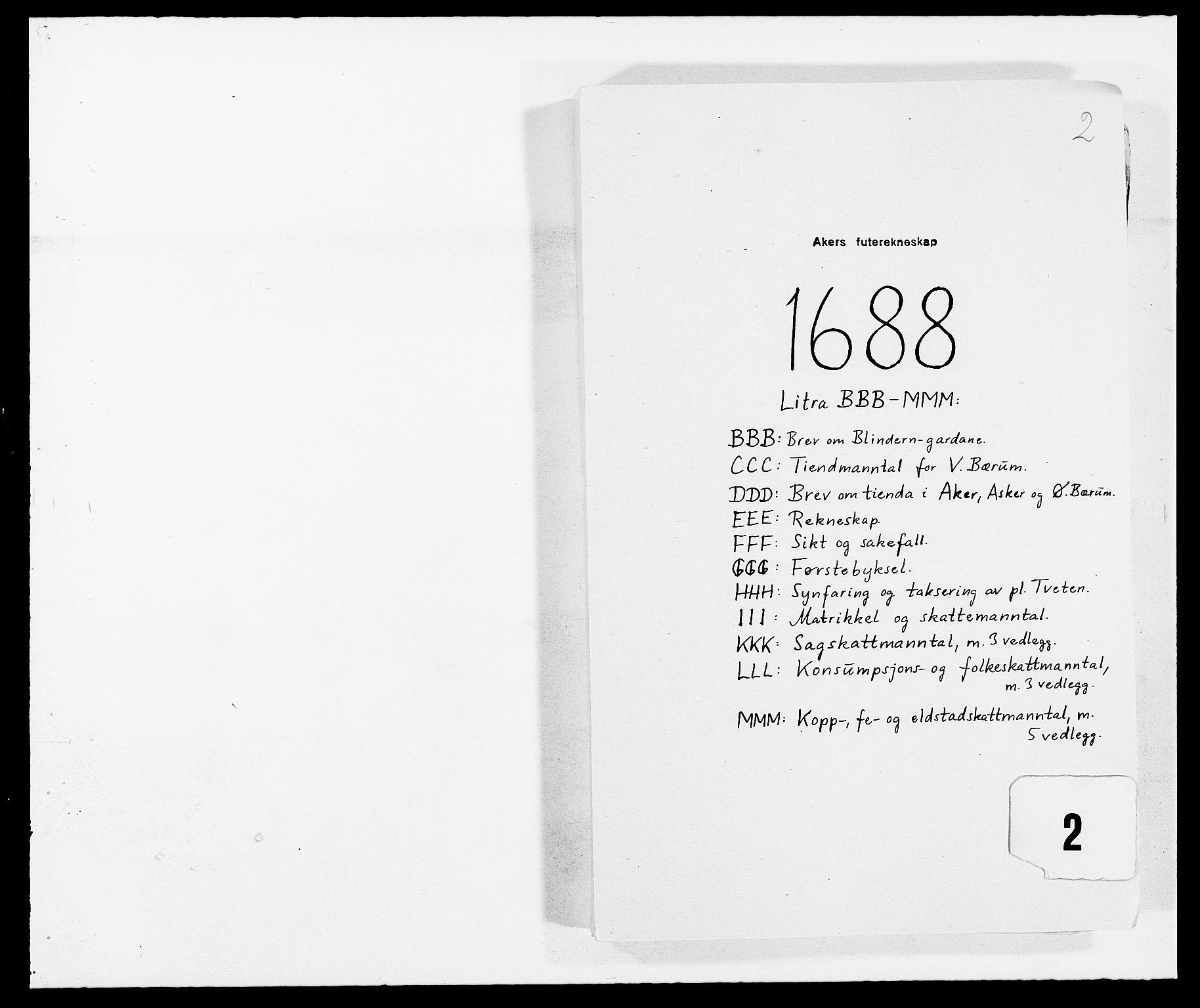 RA, Rentekammeret inntil 1814, Reviderte regnskaper, Fogderegnskap, R08/L0422: Fogderegnskap Aker, 1684-1686, s. 261