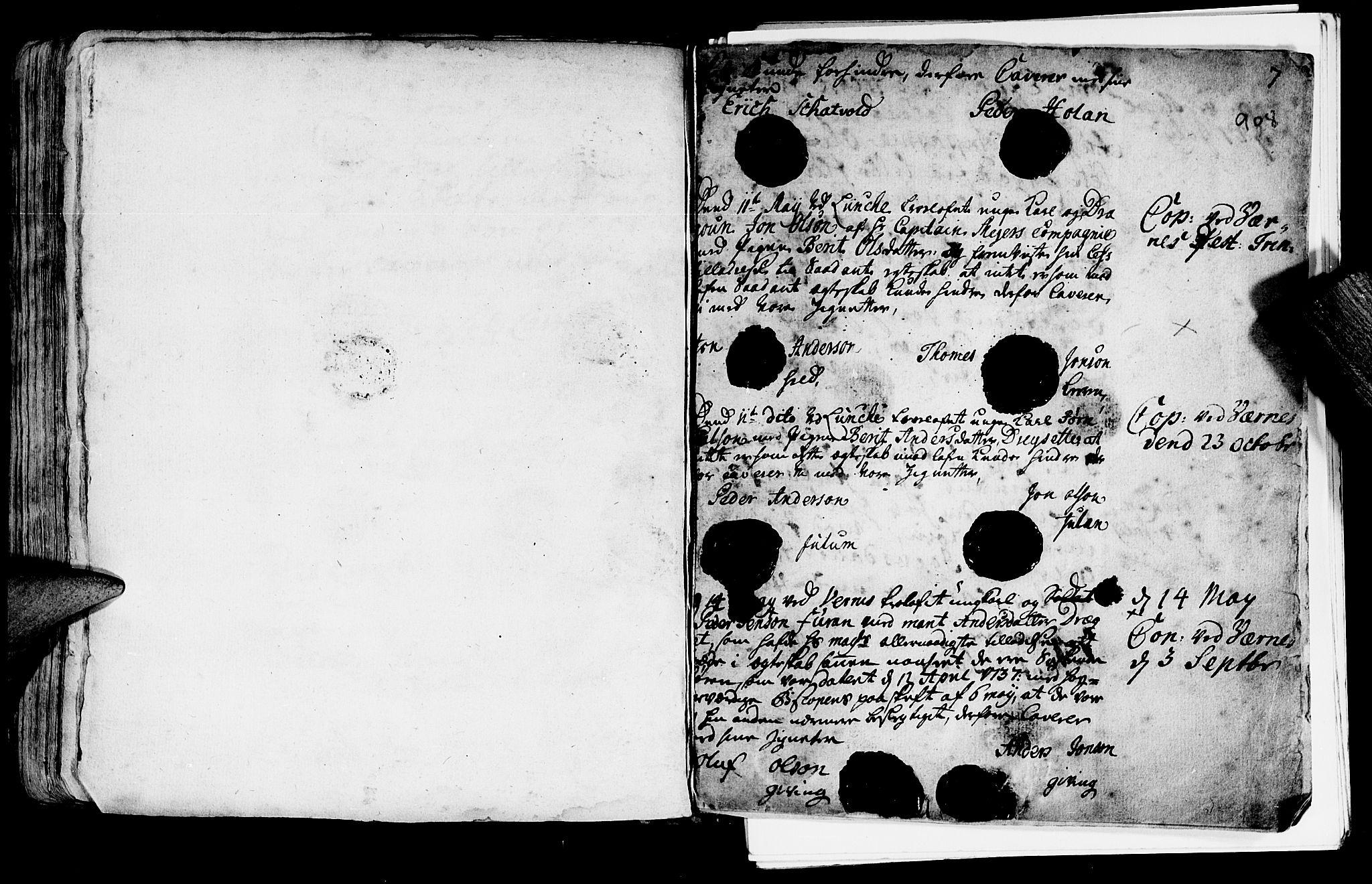SAT, Ministerialprotokoller, klokkerbøker og fødselsregistre - Nord-Trøndelag, 709/L0055: Ministerialbok nr. 709A03, 1730-1739, s. 907-908