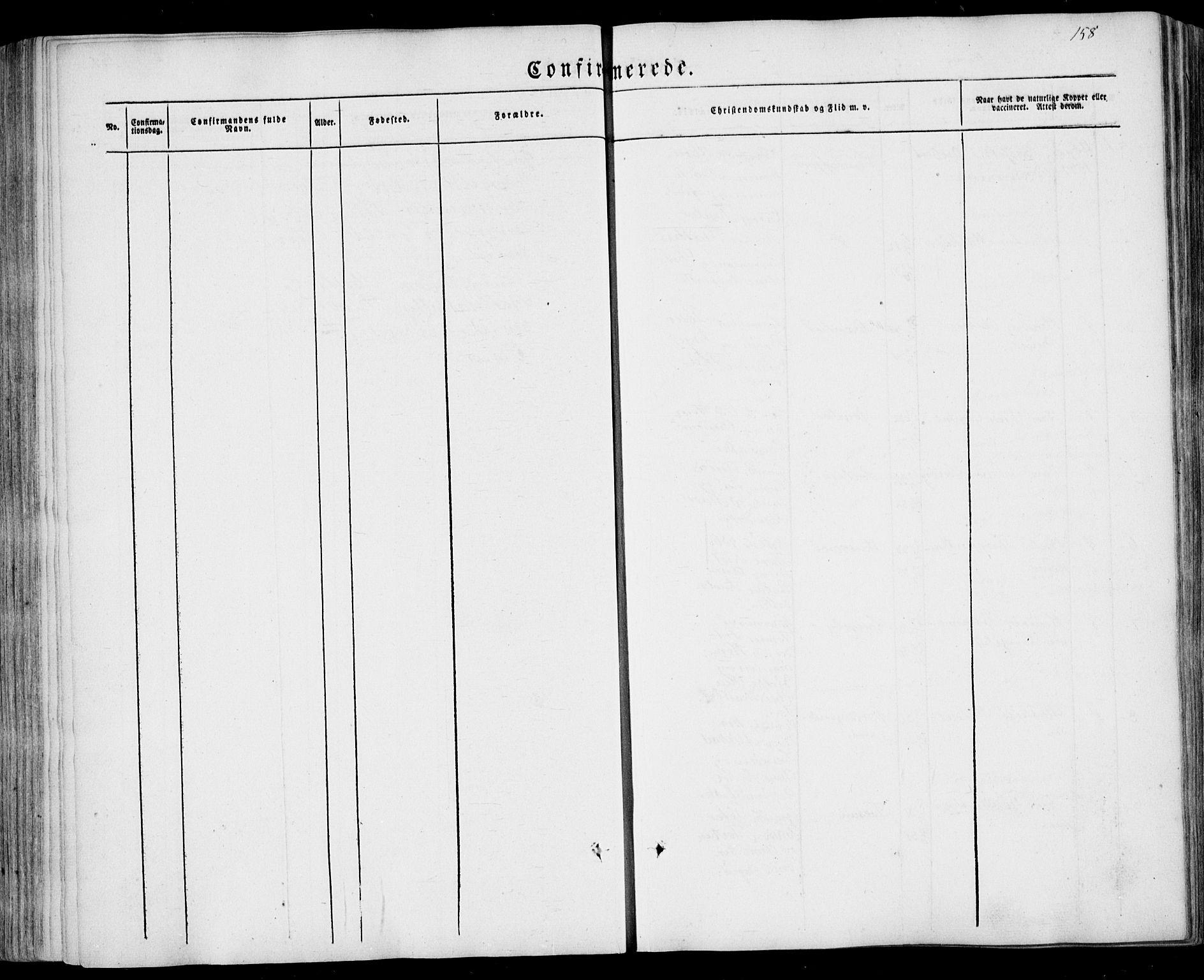 SAKO, Sandar kirkebøker, F/Fa/L0006: Ministerialbok nr. 6, 1847-1860, s. 158