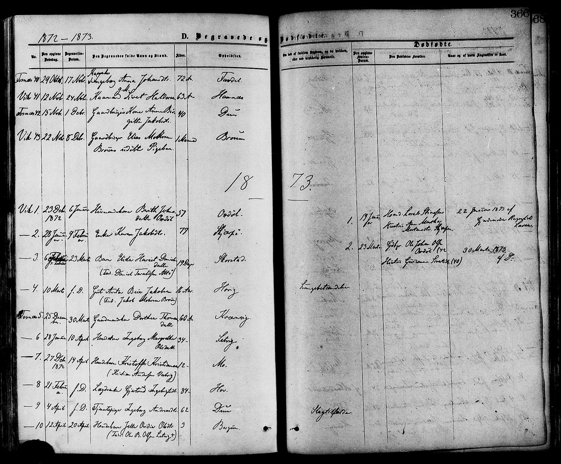 SAT, Ministerialprotokoller, klokkerbøker og fødselsregistre - Nord-Trøndelag, 773/L0616: Ministerialbok nr. 773A07, 1870-1887, s. 366