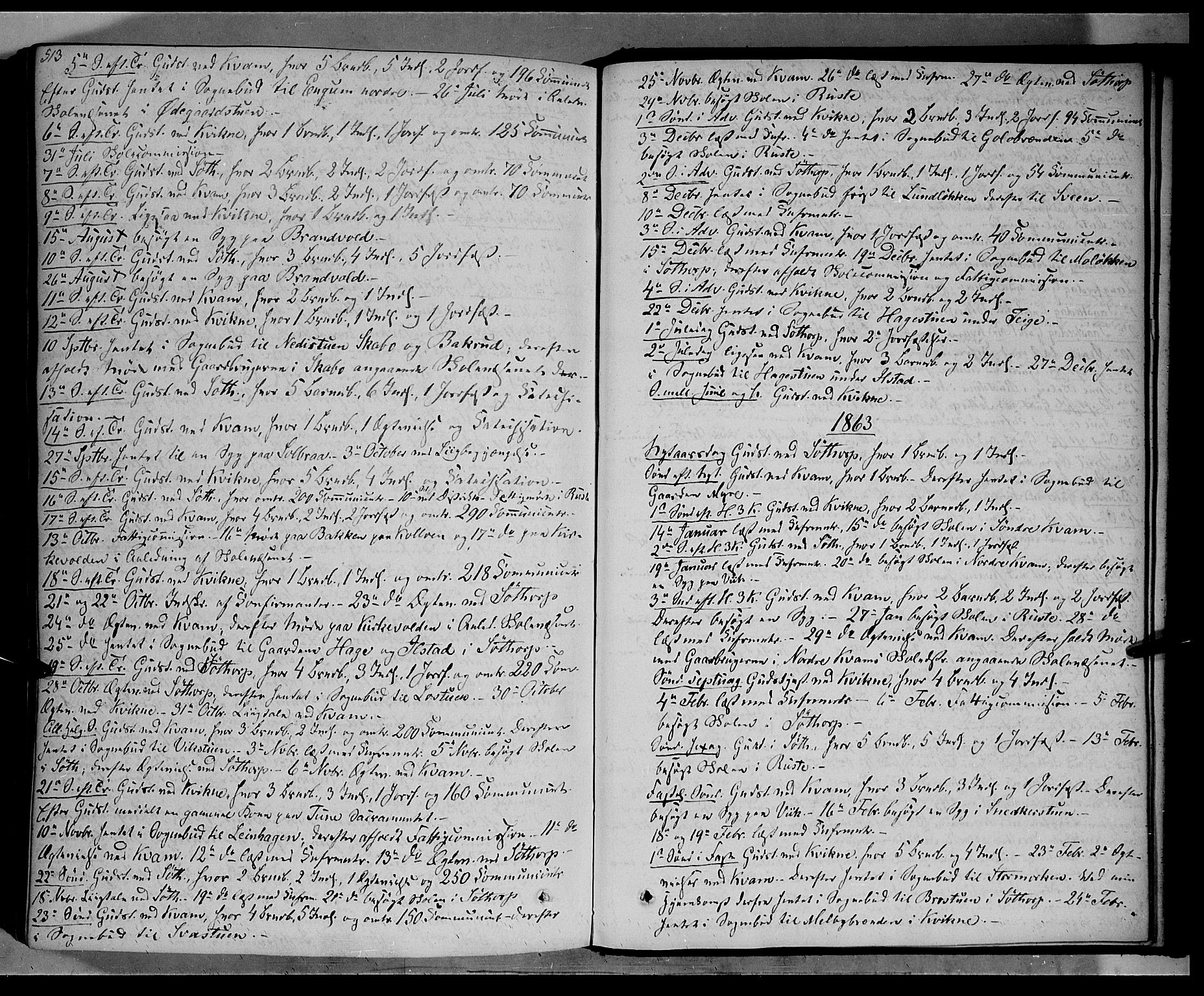 SAH, Nord-Fron prestekontor, Ministerialbok nr. 1, 1851-1864, s. 513