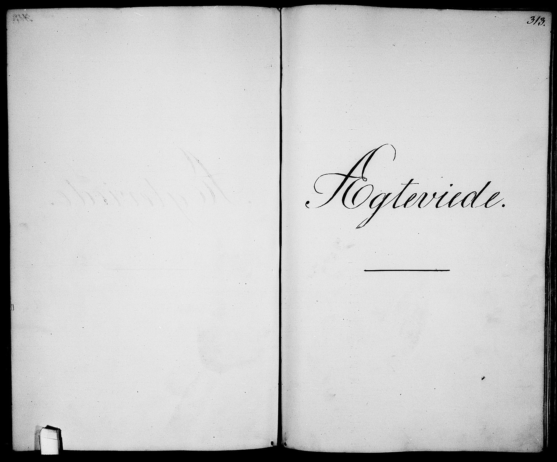 SAO, Garnisonsmenigheten Kirkebøker, G/Ga/L0005: Klokkerbok nr. 5, 1841-1860, s. 313