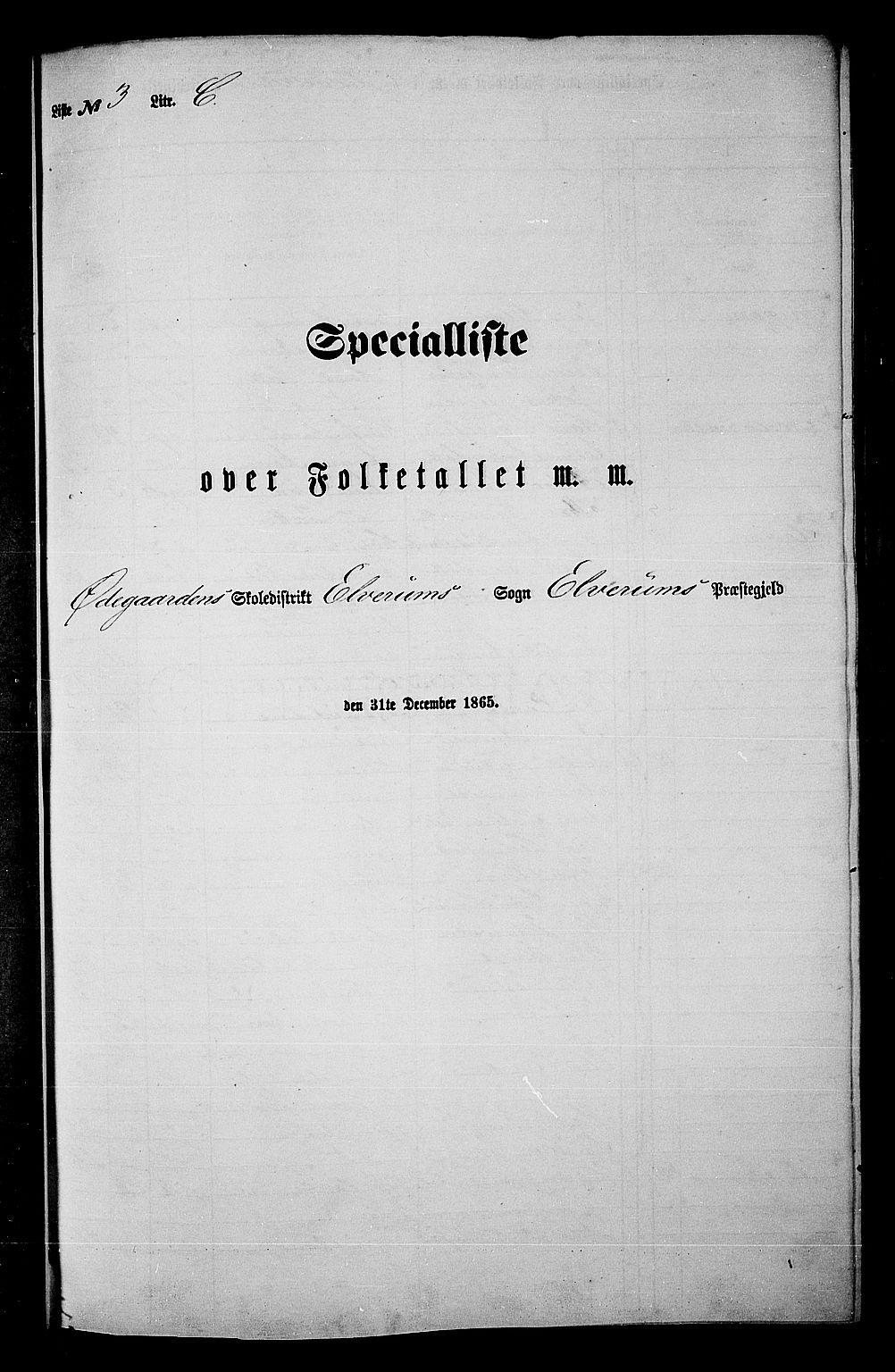 RA, Folketelling 1865 for 0427P Elverum prestegjeld, 1865, s. 81