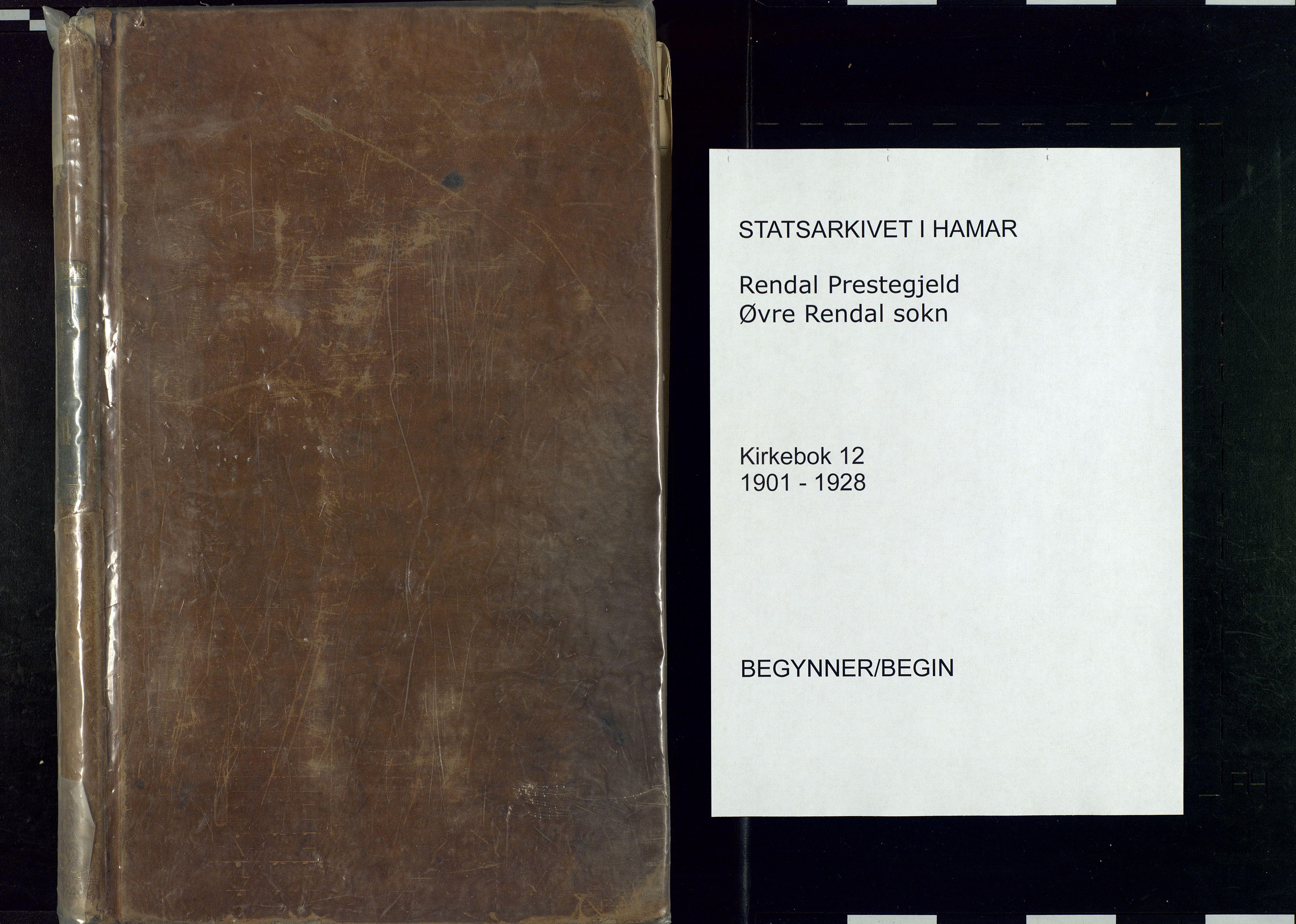 SAH, Rendalen prestekontor, H/Ha/Haa: Ministerialbok nr. 12, 1901-1928