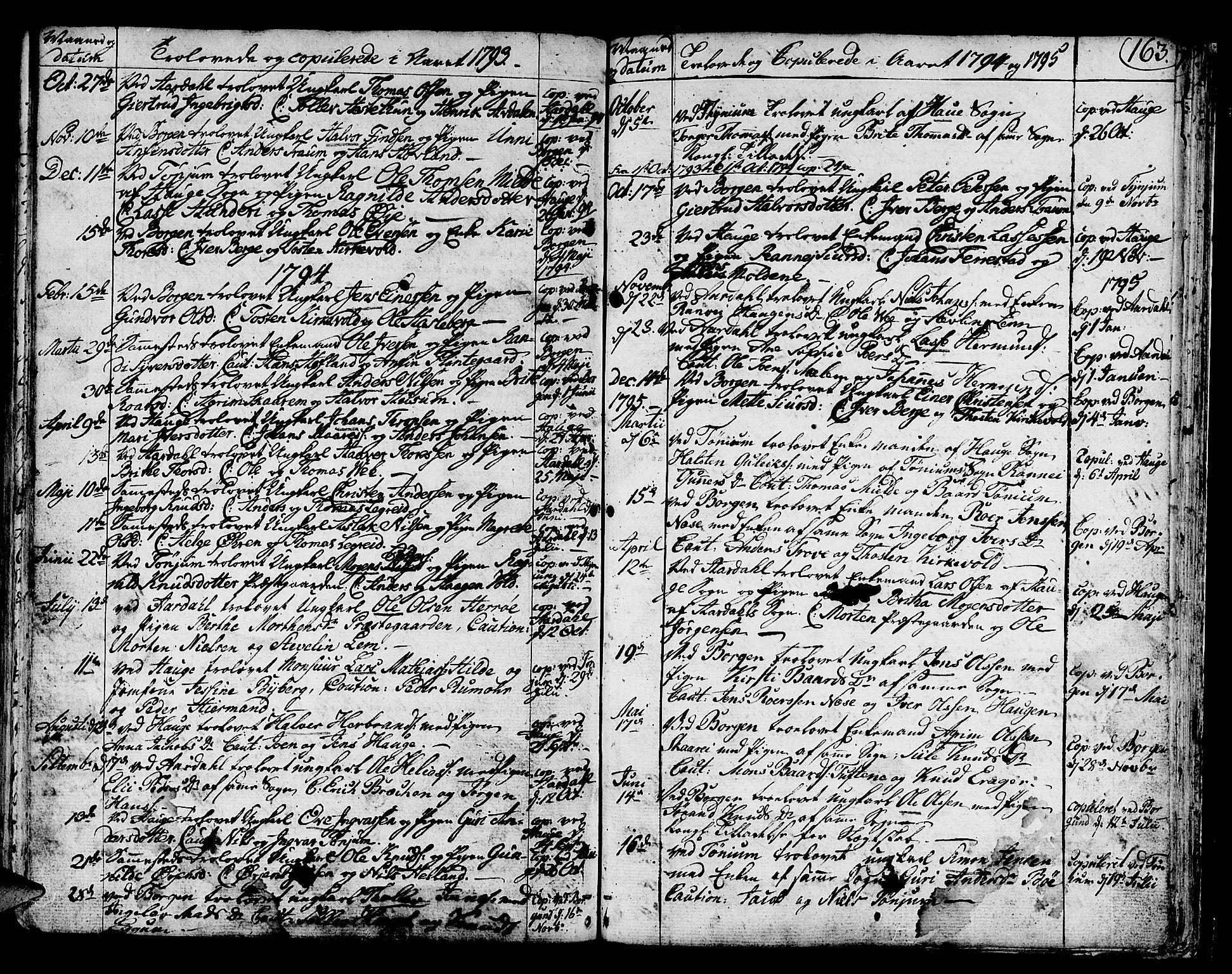 SAB, Lærdal Sokneprestembete, Ministerialbok nr. A 3, 1783-1804, s. 163
