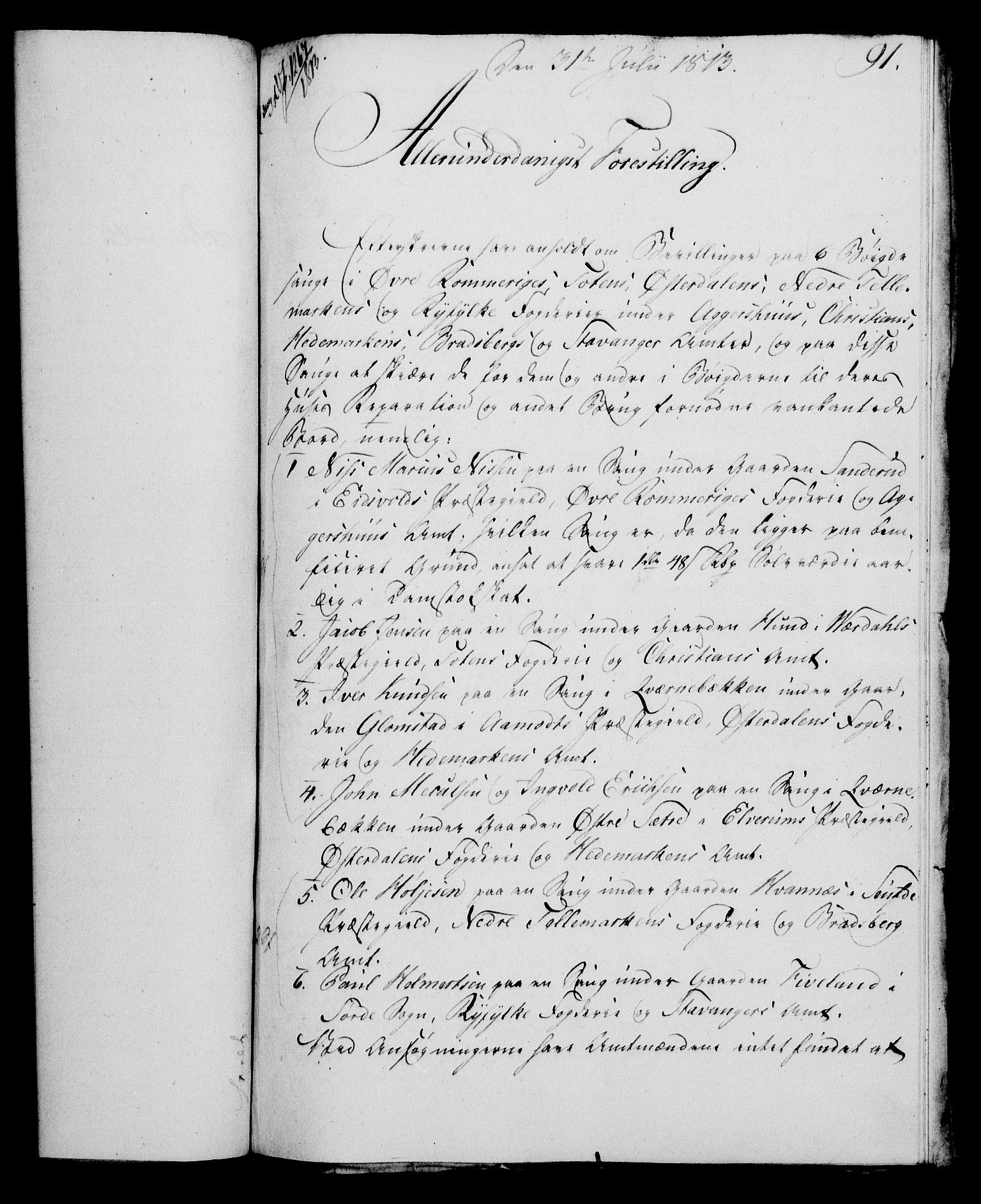 RA, Rentekammeret, Kammerkanselliet, G/Gf/Gfa/L0095: Norsk relasjons- og resolusjonsprotokoll (merket RK 52.95), 1813-1814, s. 370