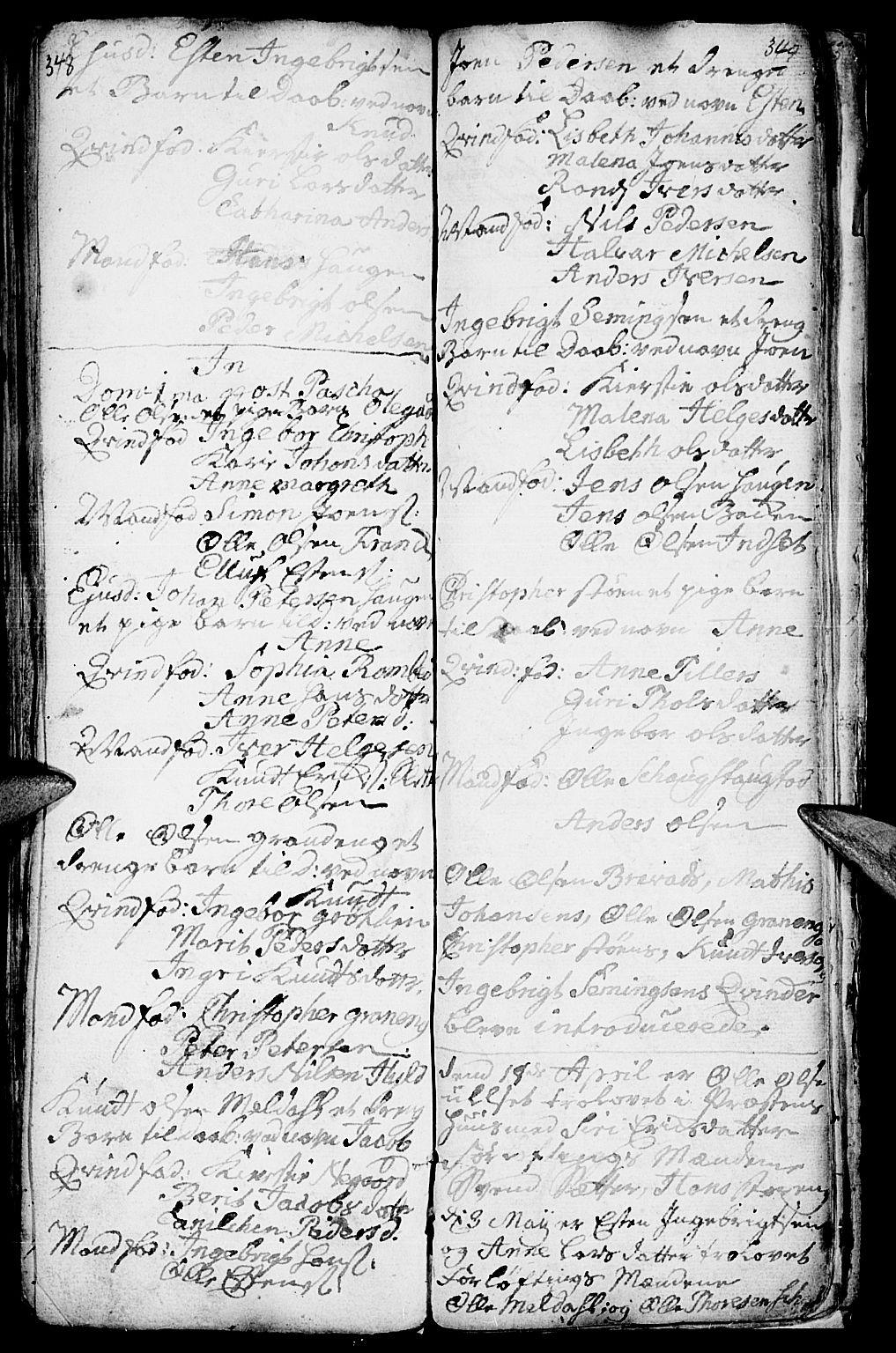 SAH, Kvikne prestekontor, Ministerialbok nr. 1, 1740-1756, s. 348-349