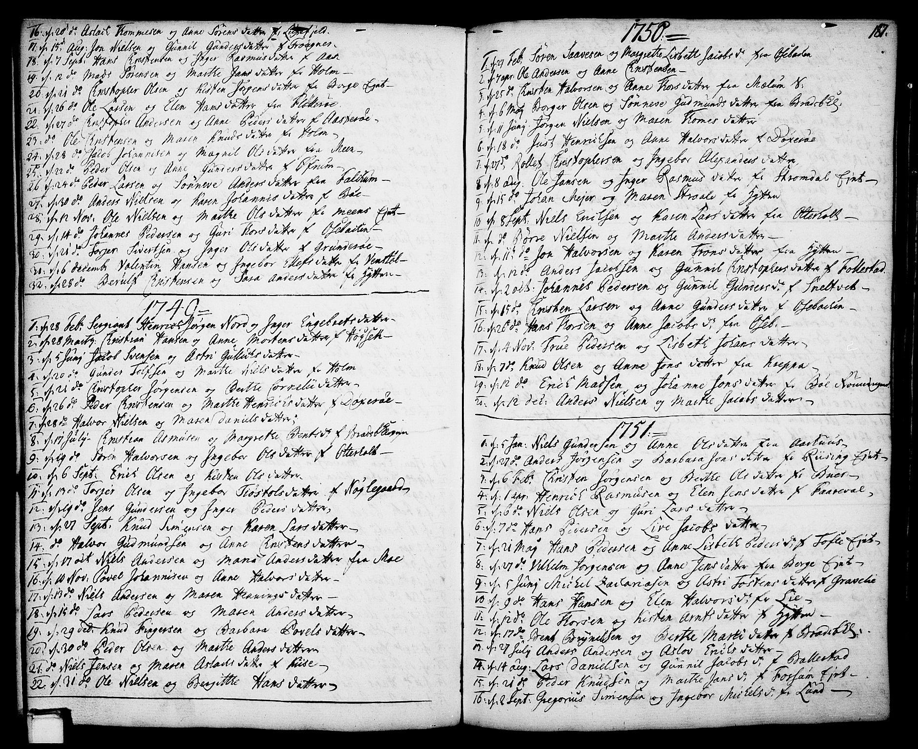 SAKO, Gjerpen kirkebøker, F/Fa/L0002: Ministerialbok nr. 2, 1747-1795, s. 187