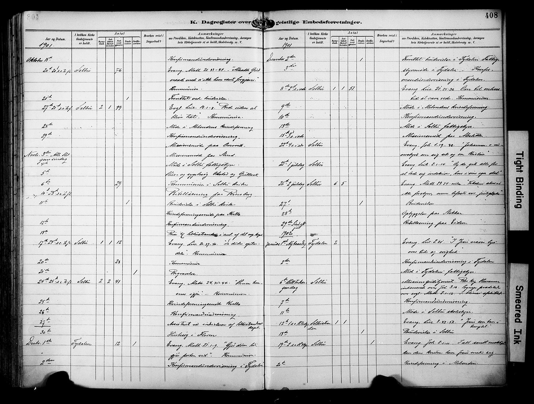 SAT, Ministerialprotokoller, klokkerbøker og fødselsregistre - Sør-Trøndelag, 695/L1149: Ministerialbok nr. 695A09, 1891-1902, s. 408