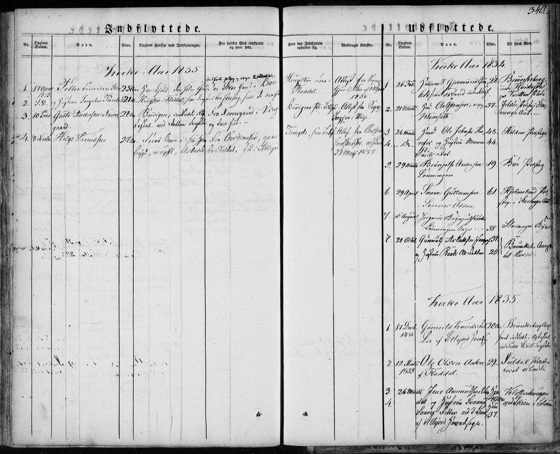 SAKO, Seljord kirkebøker, F/Fa/L0011: Ministerialbok nr. I 11, 1831-1849, s. 340