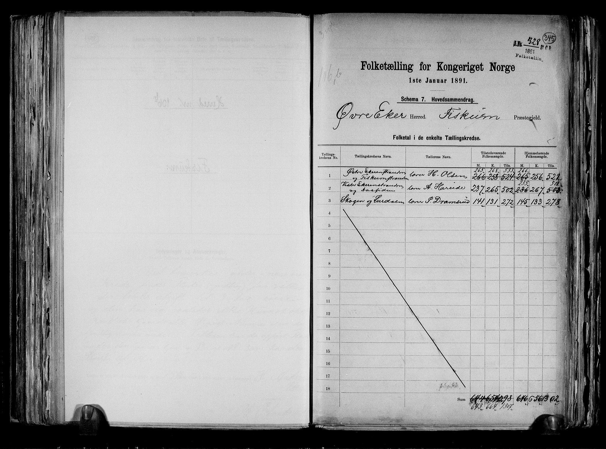RA, Folketelling 1891 for 0624 Øvre Eiker herred, 1891, s. 48