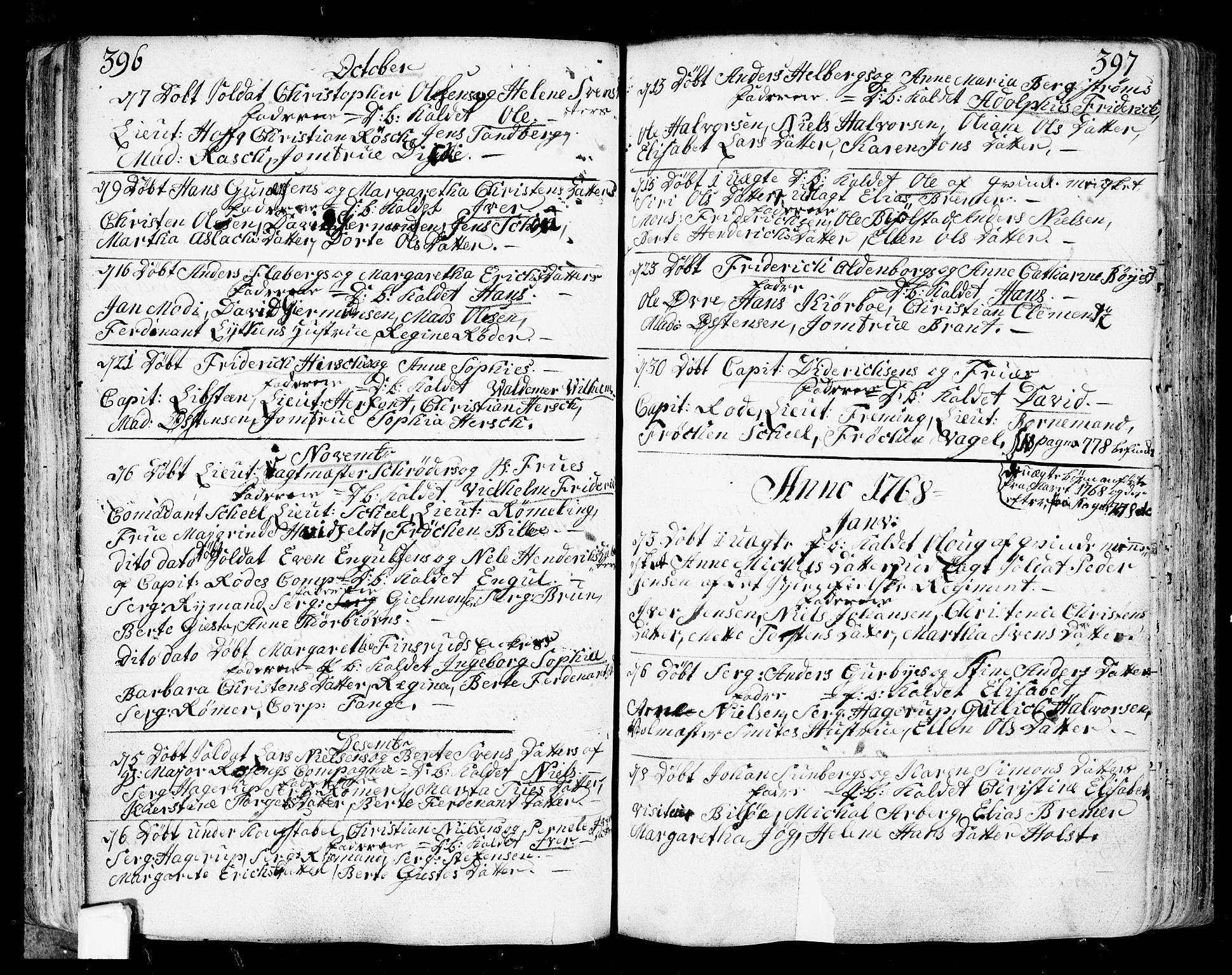 SAO, Fredrikstad prestekontor Kirkebøker, F/Fa/L0002: Ministerialbok nr. 2, 1750-1804, s. 396-397